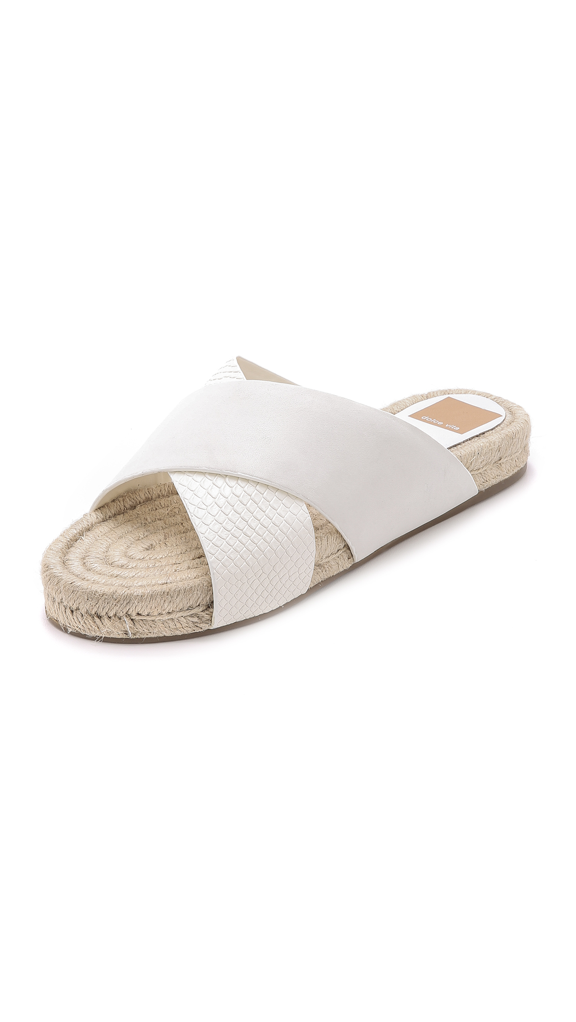 Lyst Dolce Vita Genivee Slides Off White In White