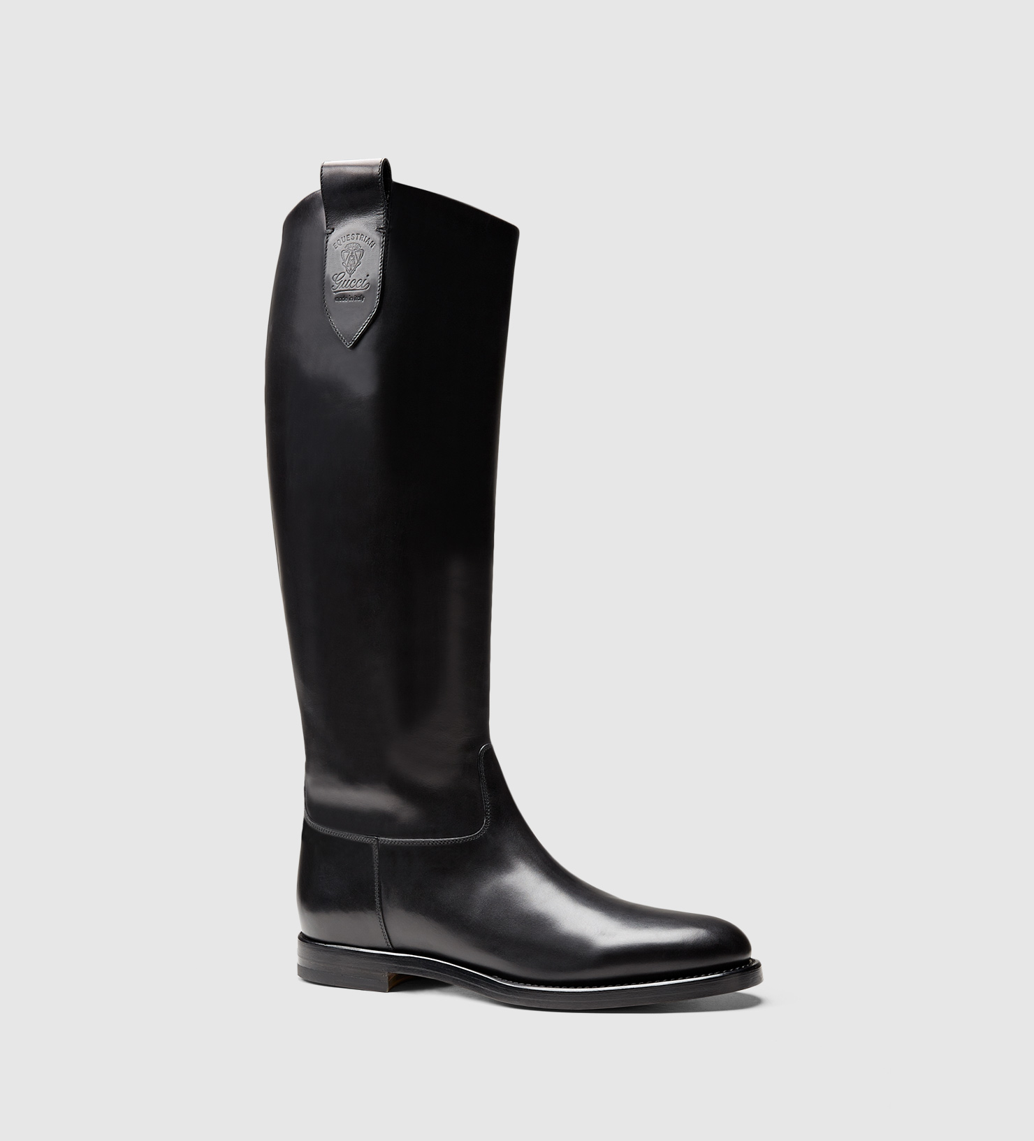 Gucci Men's Leather Riding Boot From Equestrian Collection in ...