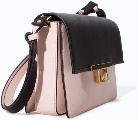 Zara Shoulder Bag With Metal Fastening 29