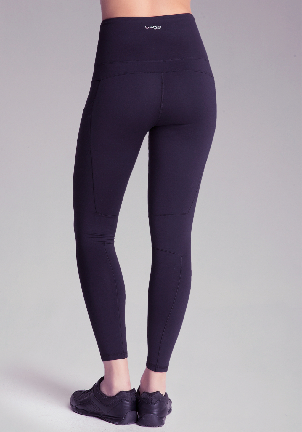 Bebe High-waist Workout Leggings in Black | Lyst