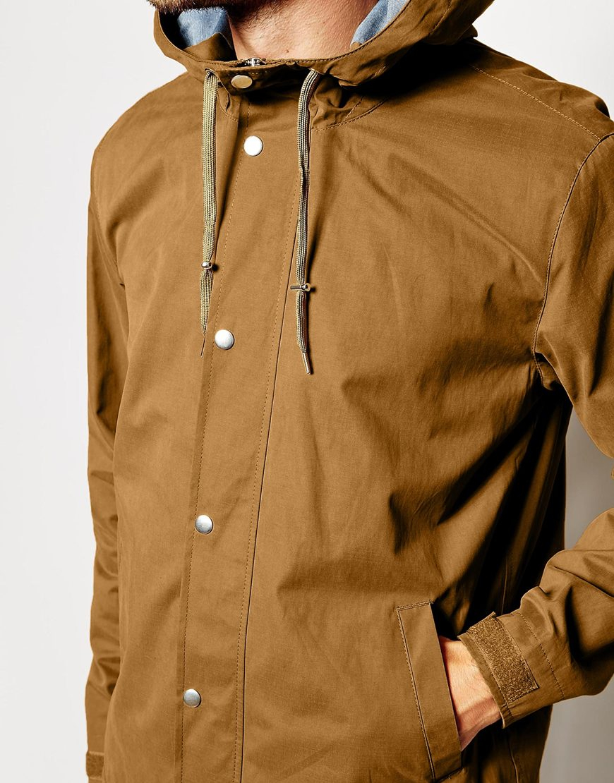 Asos Windbreaker Jacket in Brown for Men | Lyst