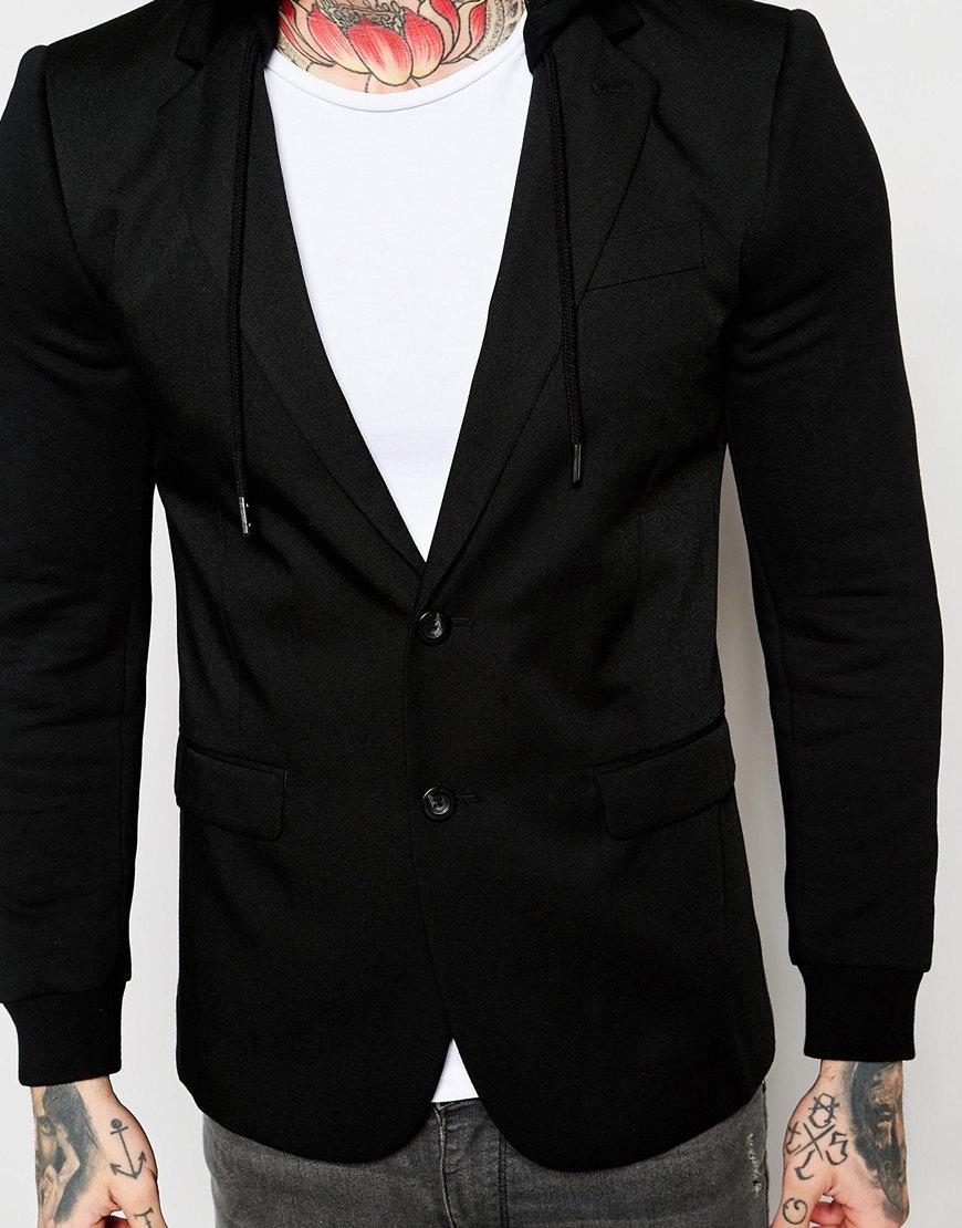 Lyst - Diesel Blazer Jacket J-swesl Detatchable Sweat Hood In Black in Black  for Men