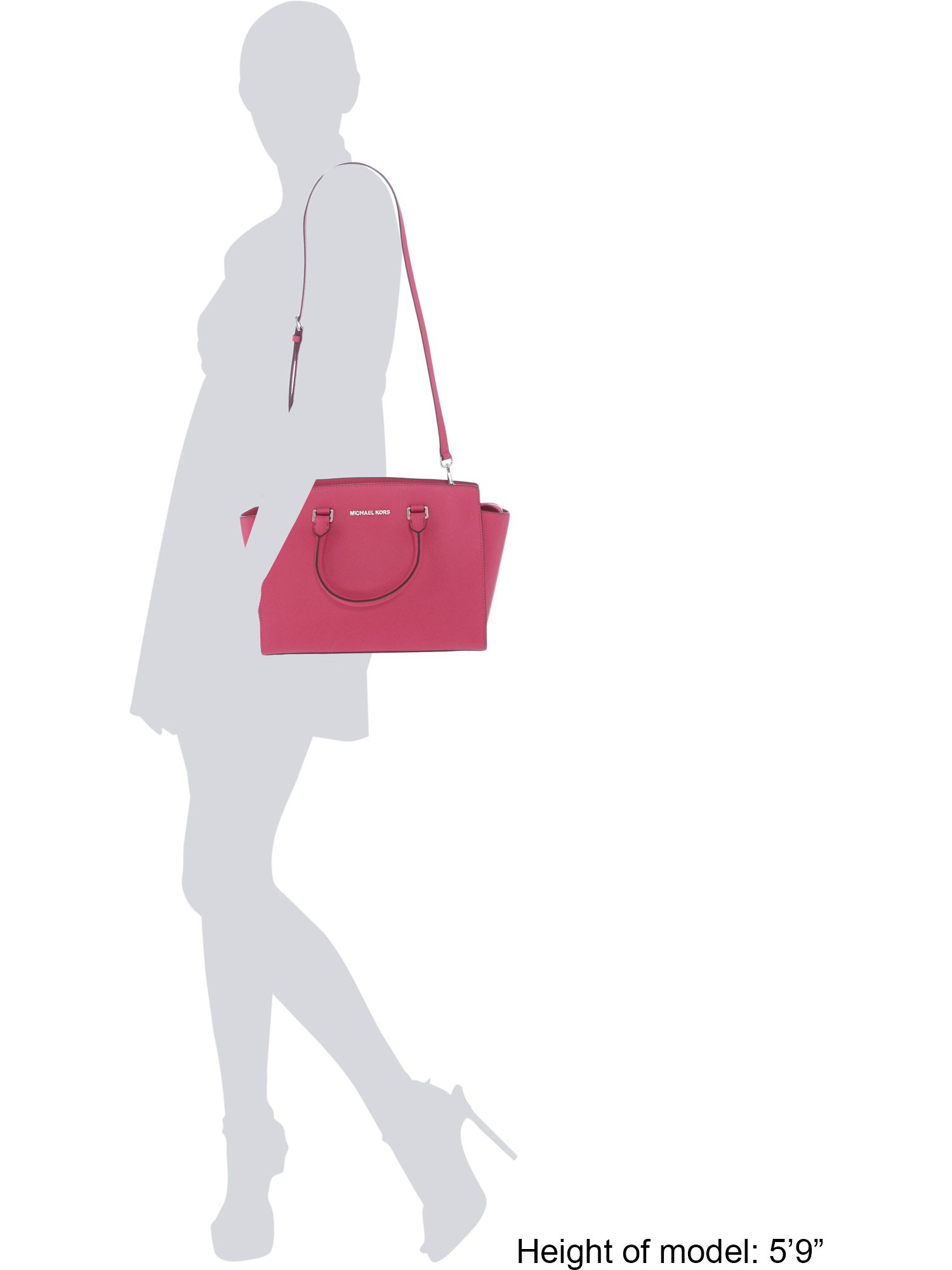 Michael Kors Selma Pink Large Tote Bag