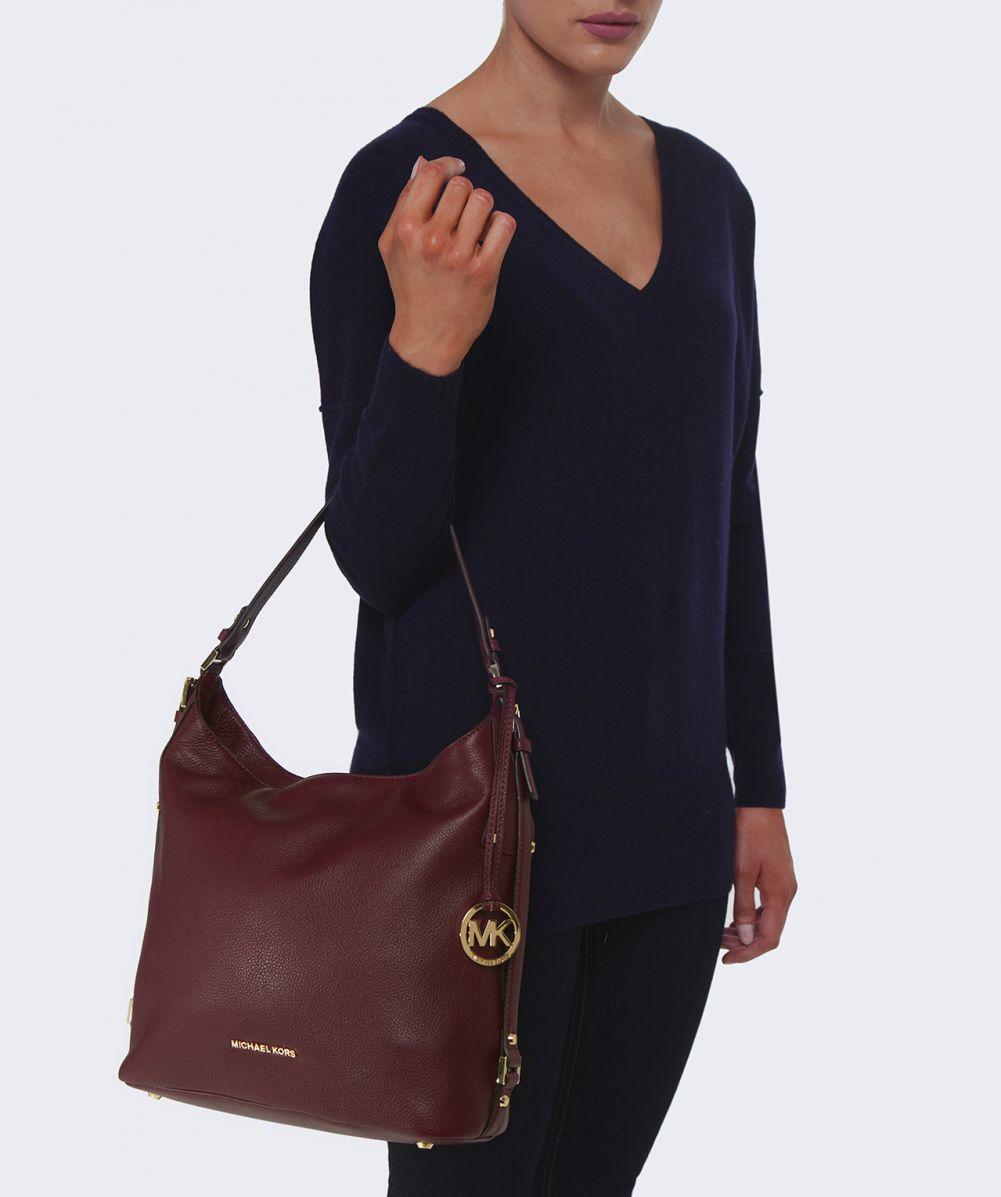 Michael Michael Kors Bedford Belted Shoulder Bag In Merlot