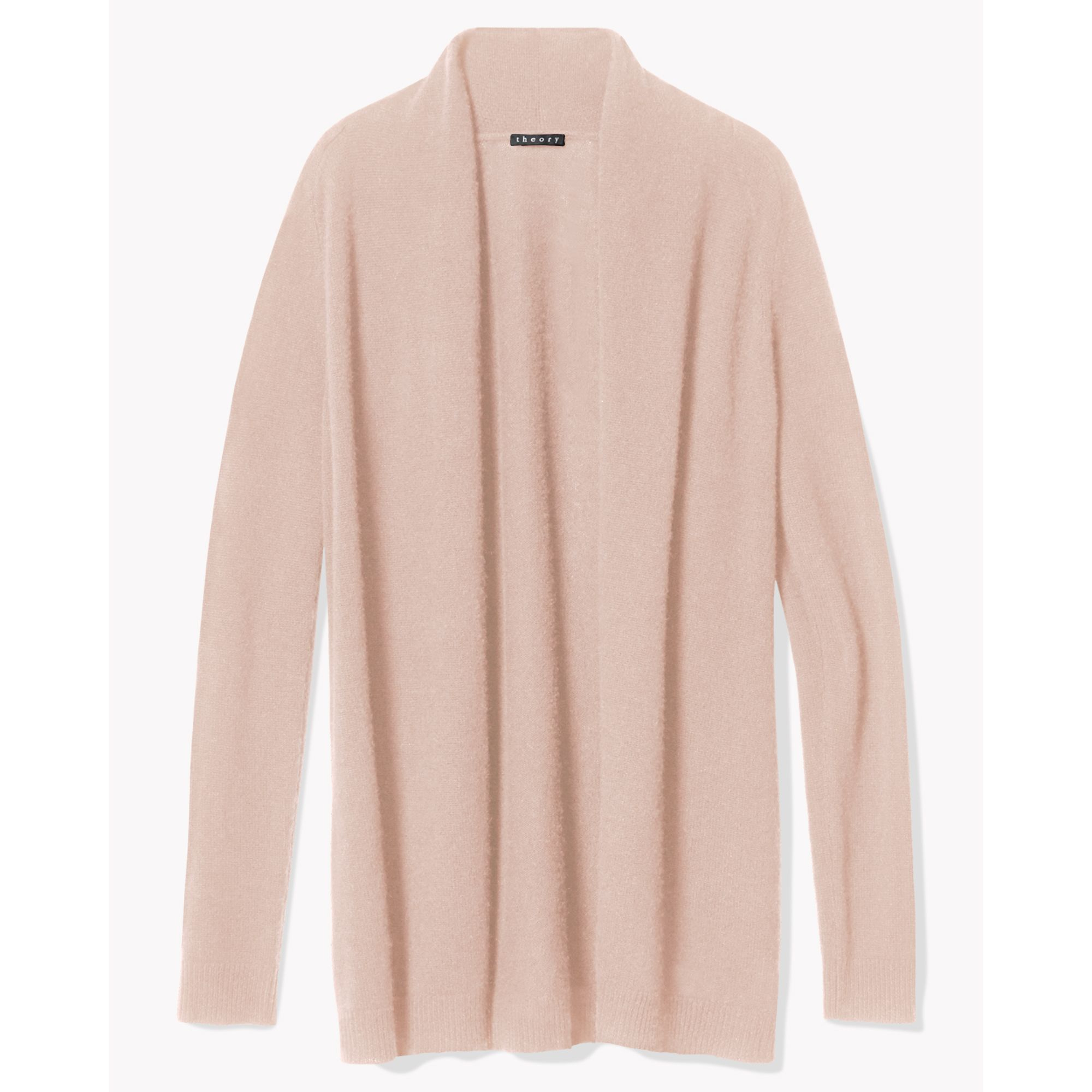 Lyst - Theory Feather Cashmere Open Cardigan in Pink bd3312f50