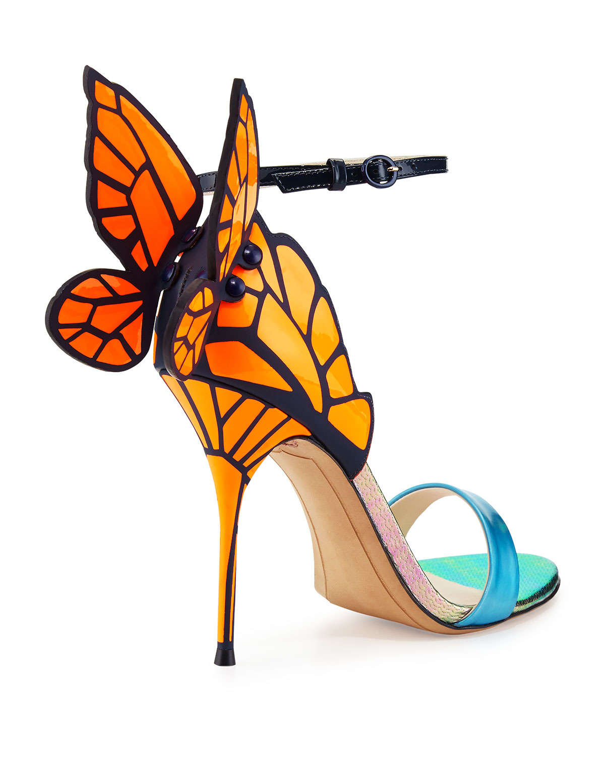 15c4b8b2116c Lyst - Sophia Webster Chiara Butterfly Wing Sandal in Blue