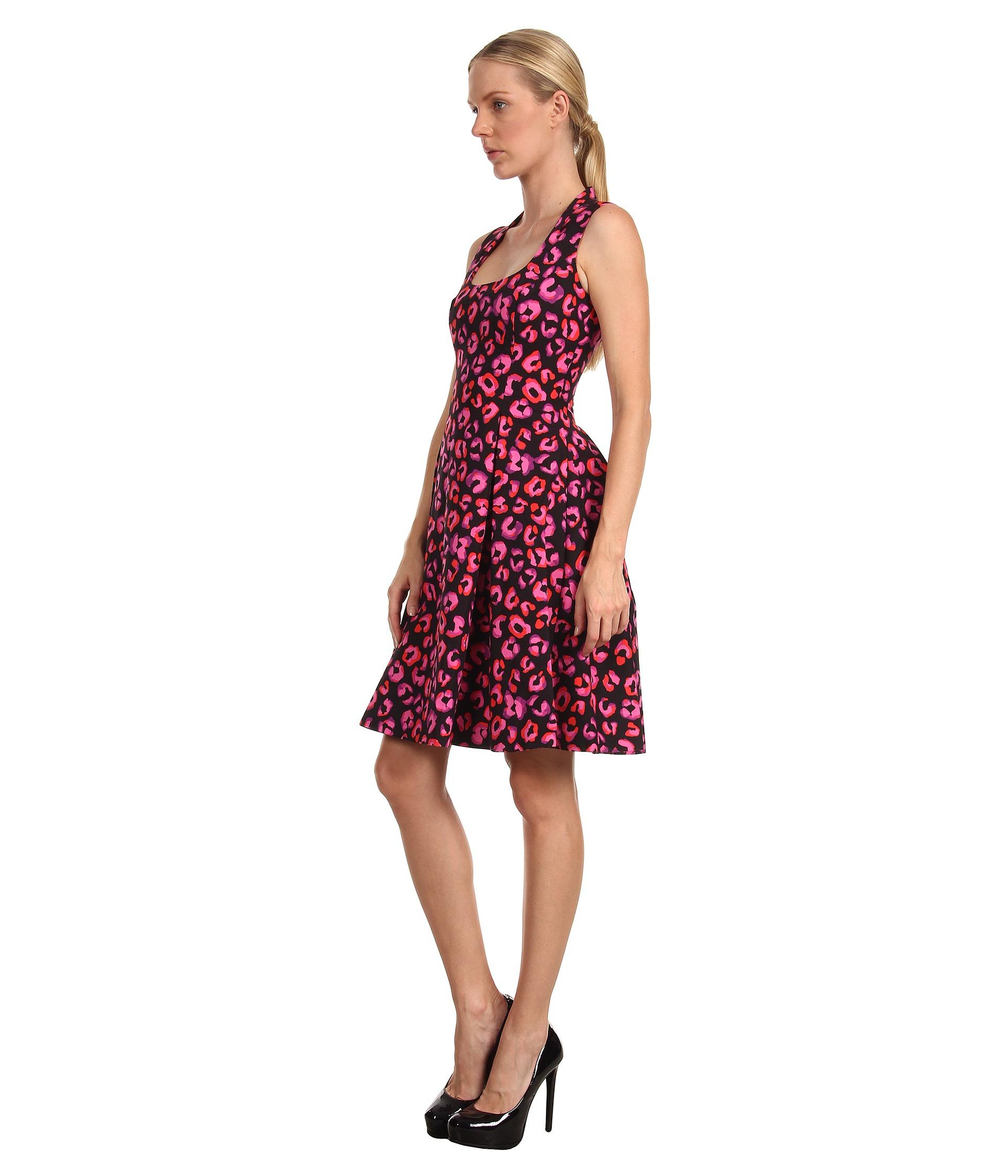 Kate Spade Kimi Dress In Pink Black Pink Disco Animal Lyst