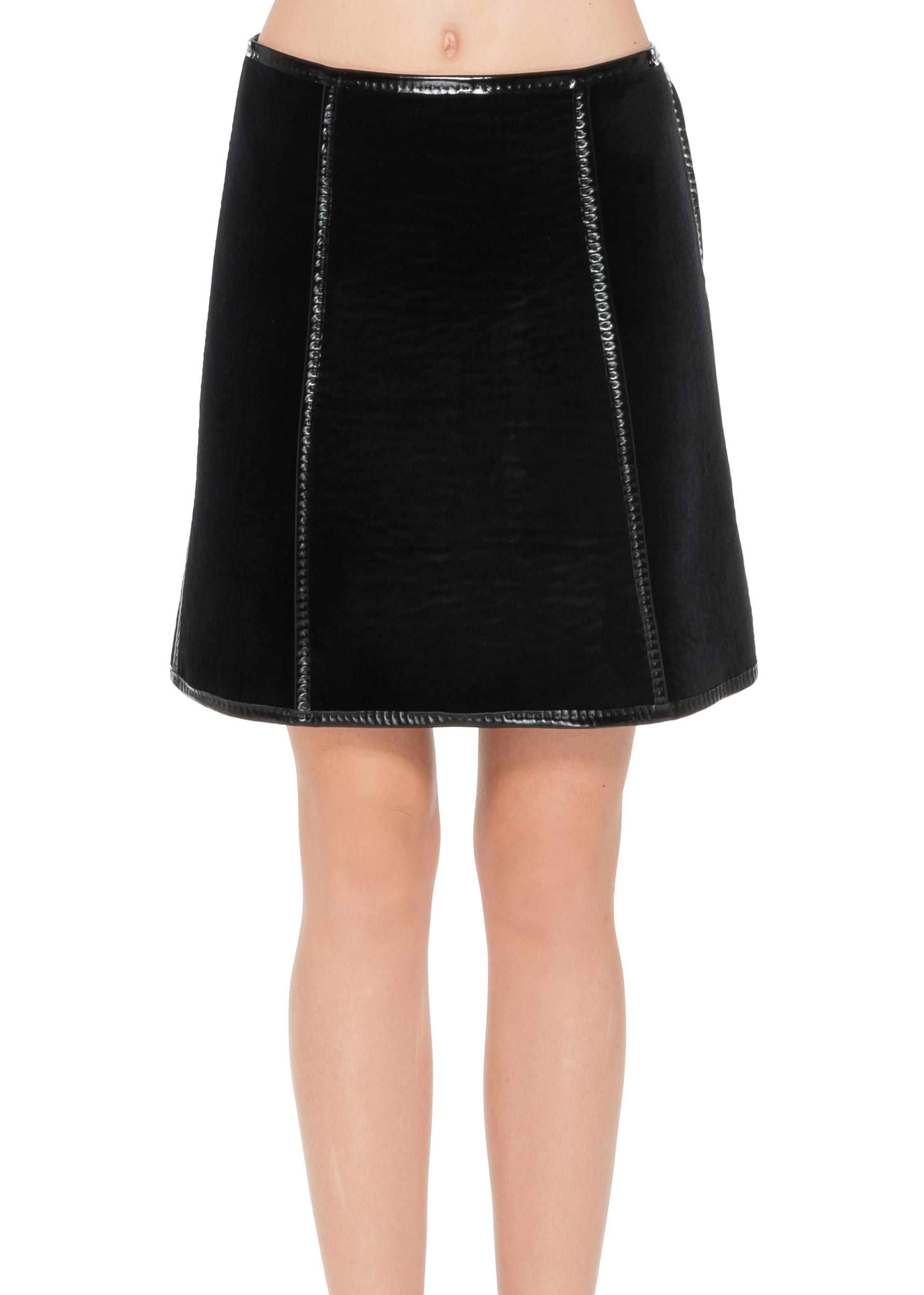 max bonded velvet a line skirt in black save 40 lyst