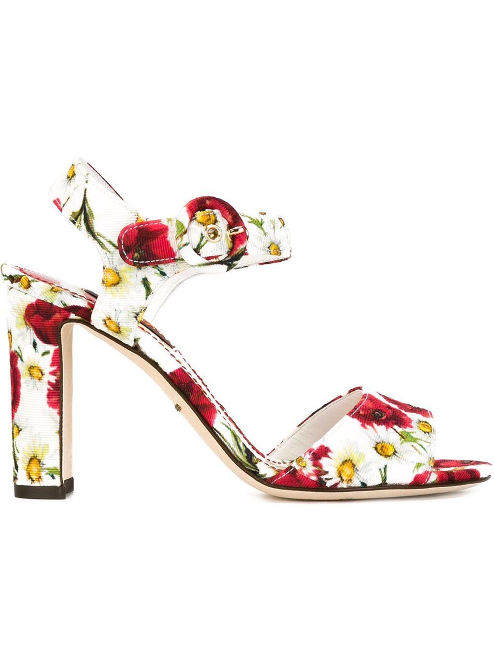 ebay cheap online Dolce & Gabbana 2016 Poppy Printed Sandals sale wide range of u5PdLSIv