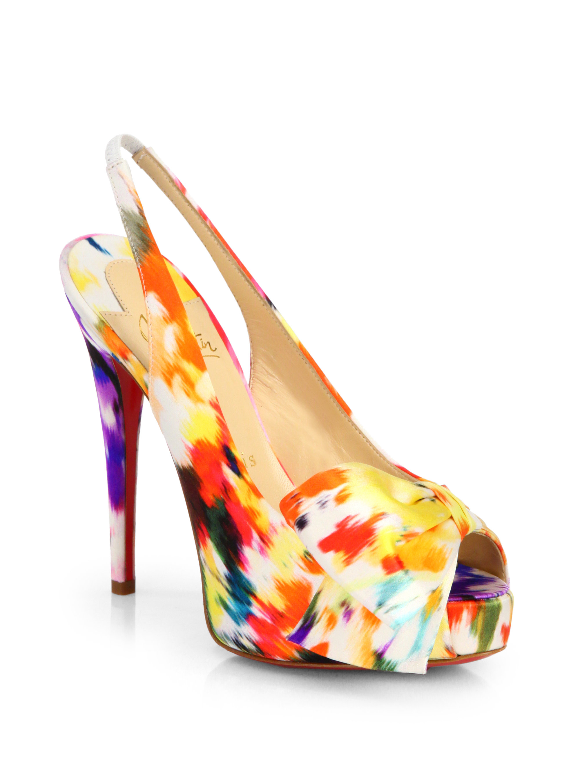 shoes christian louboutin replica - christian louboutin slingback pumps Black satin embellished piece ...