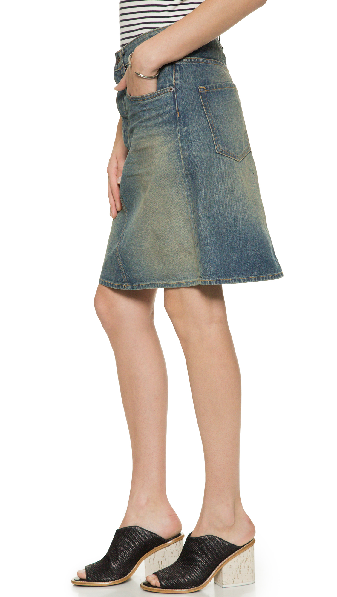 6397 Straight Skirt - Dirty Faded in Blue   Lyst