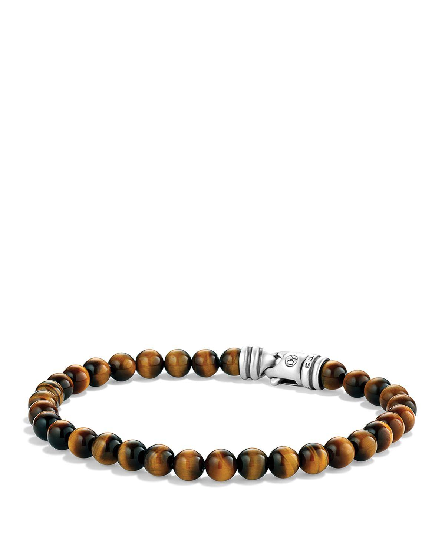 David Yurman Spiritual Beads Bracelet With Tiger S Eye In