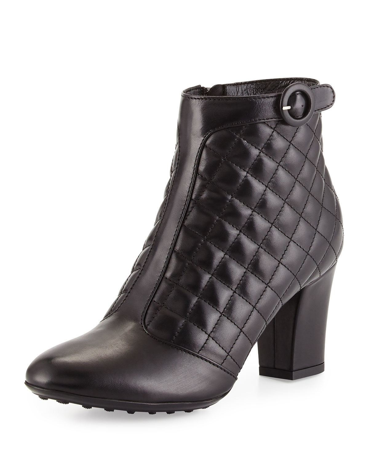 4608a12ed206f Lyst - Aquatalia Harriet Quilted Leather Bootie in Black
