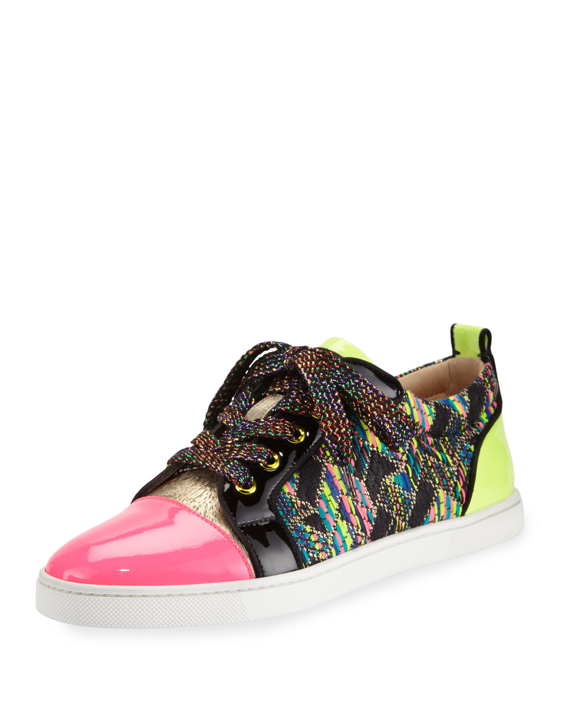 85ec3e987a859 Christian Louboutin Gondoliere Woven Low-top Sneaker - Lyst