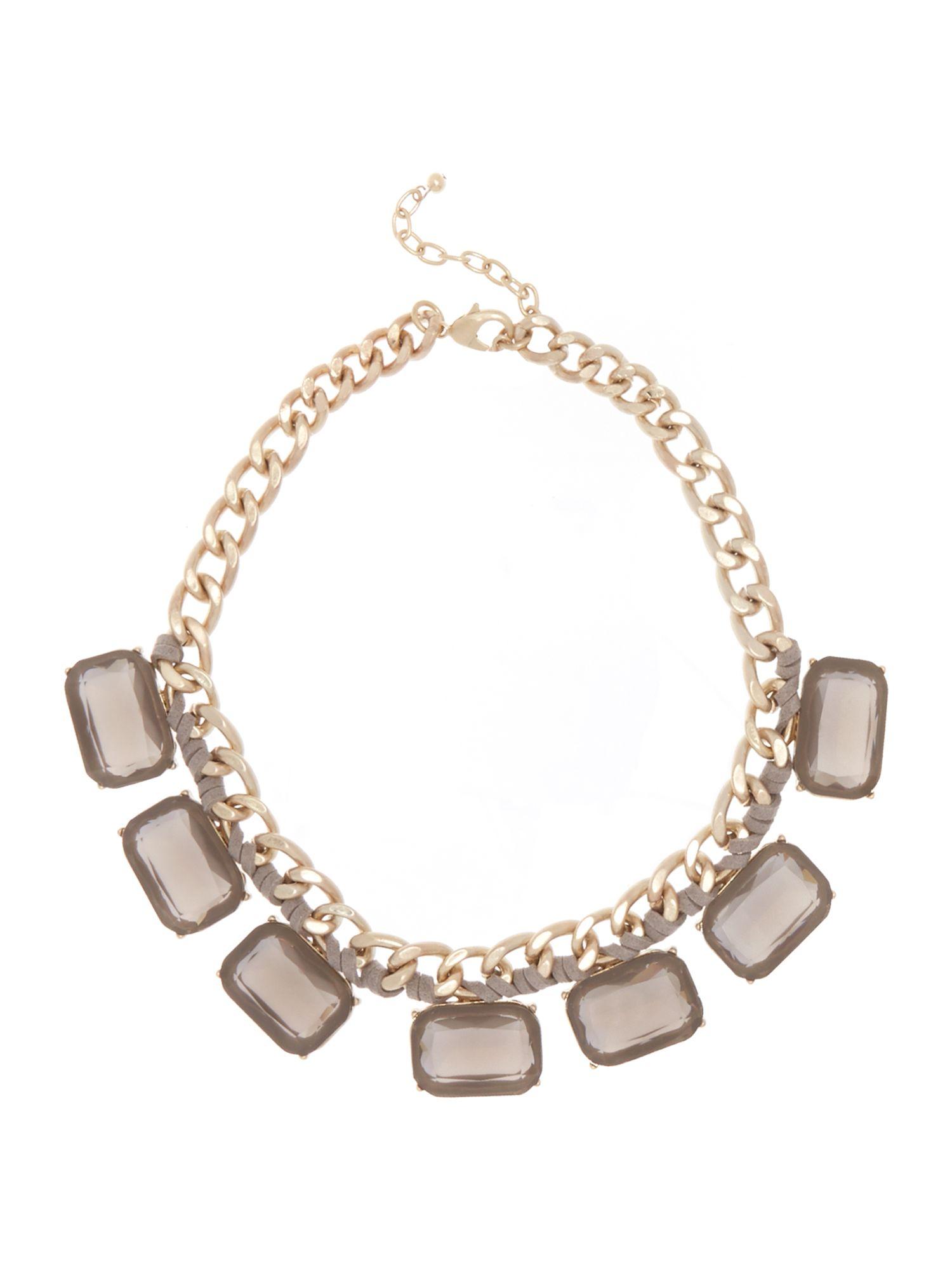 persona lia square jewels necklace in metallic lyst