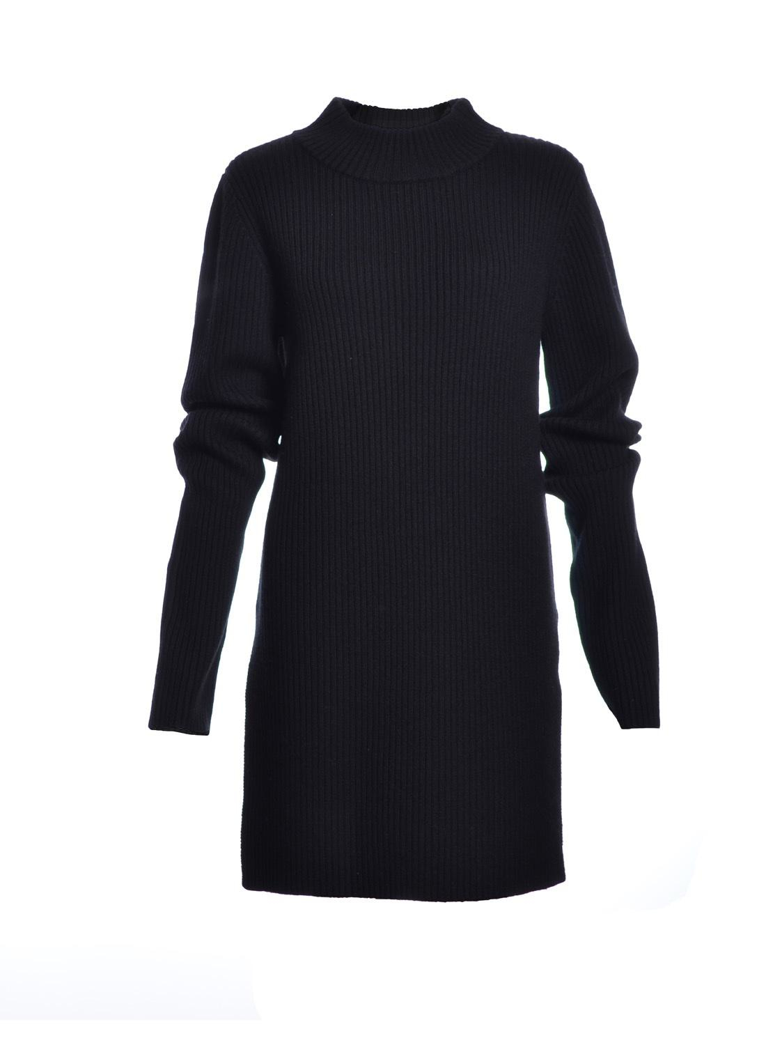 Charlie May Black Long Ribbed Knit Tunic Top Sold Out In