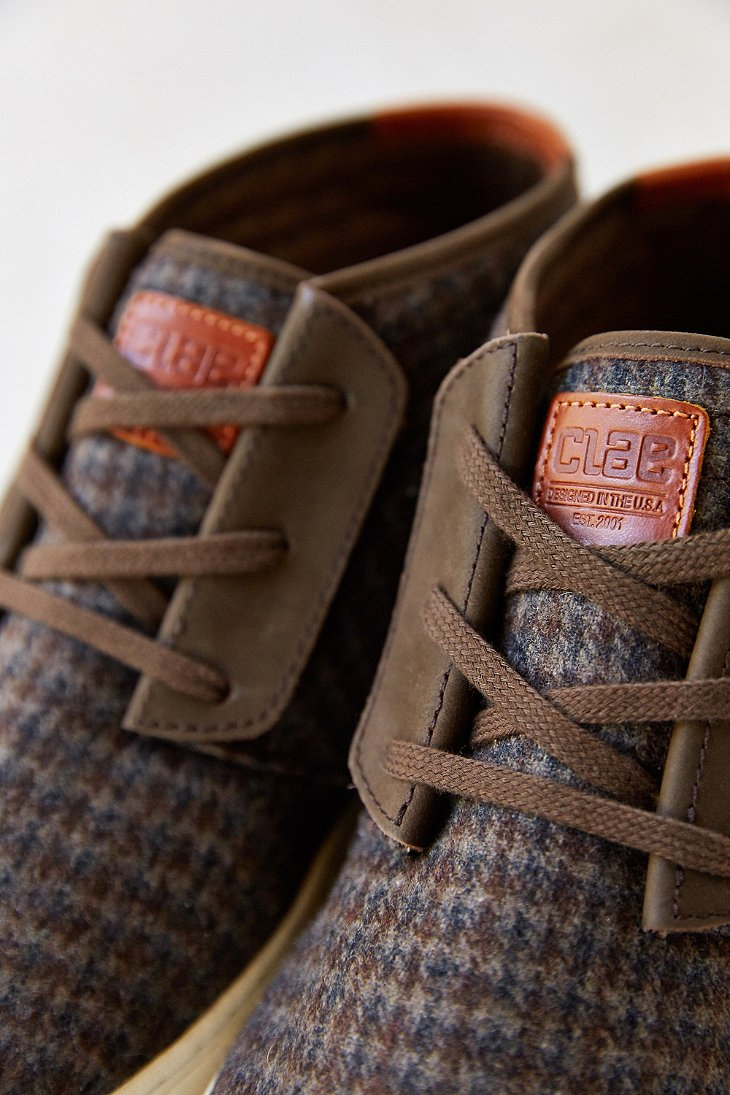 Clae mcqueen nubuck sneaker in brown for men lyst for Four man rubber life craft