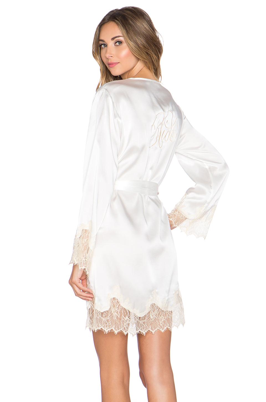 Kisskill Lucy Silk Bride Robe In Ivory White Lyst