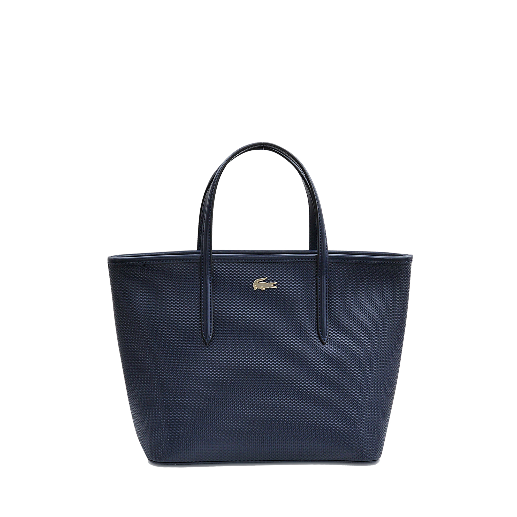 lacoste chantaco small shopping tote in blue lyst