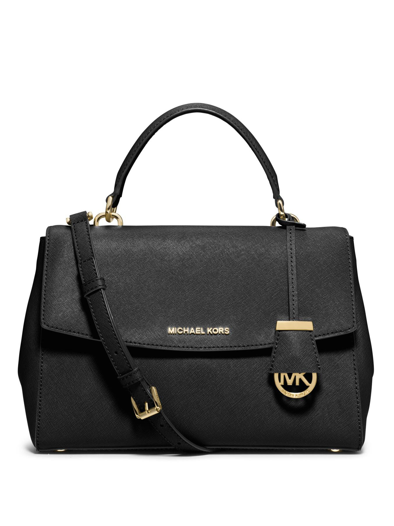 michael michael kors ava large saffiano leather satchel in. Black Bedroom Furniture Sets. Home Design Ideas