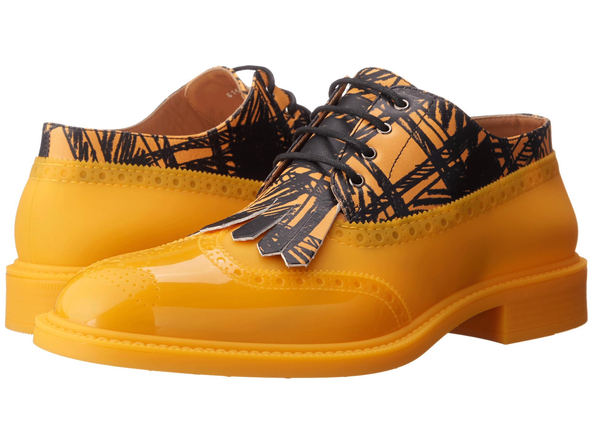 vivienne westwood lace up brogue in yellow for lyst
