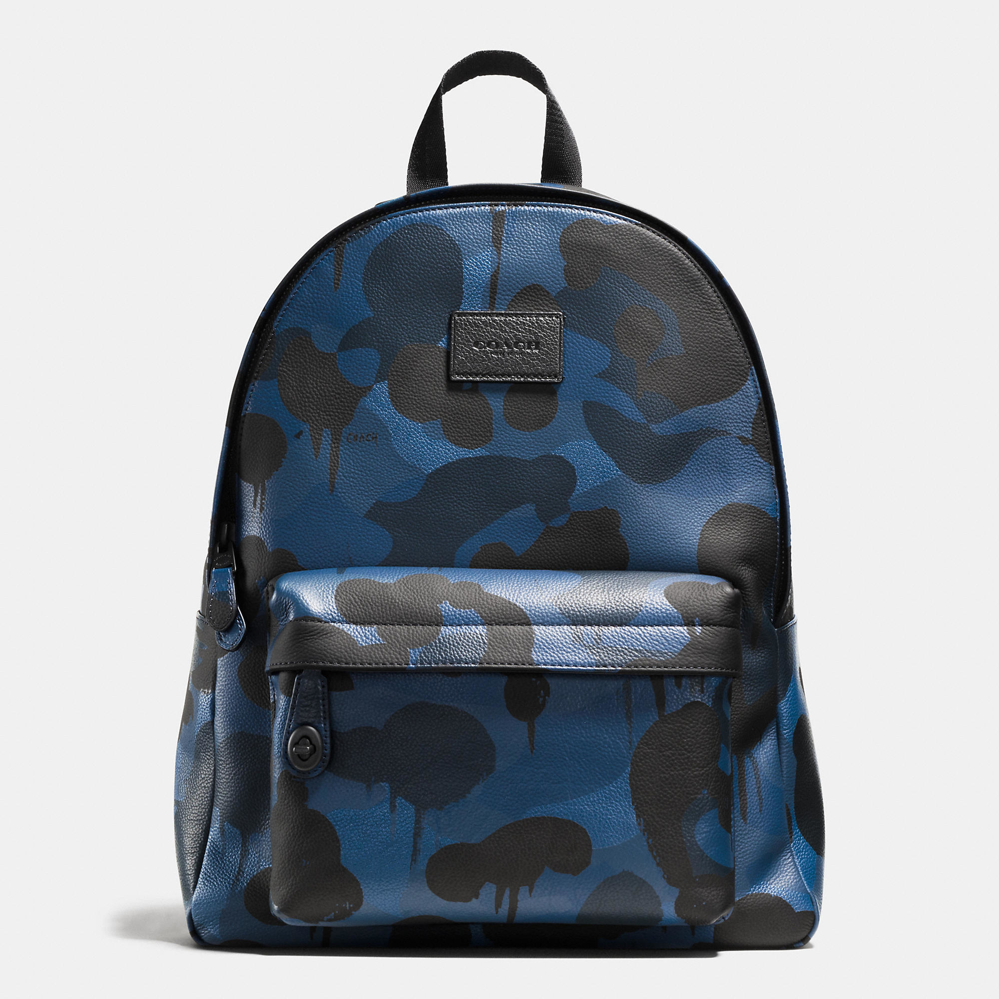 COACH : Green Campus Backpack In Printed Pebble Leather for Men : Lyst