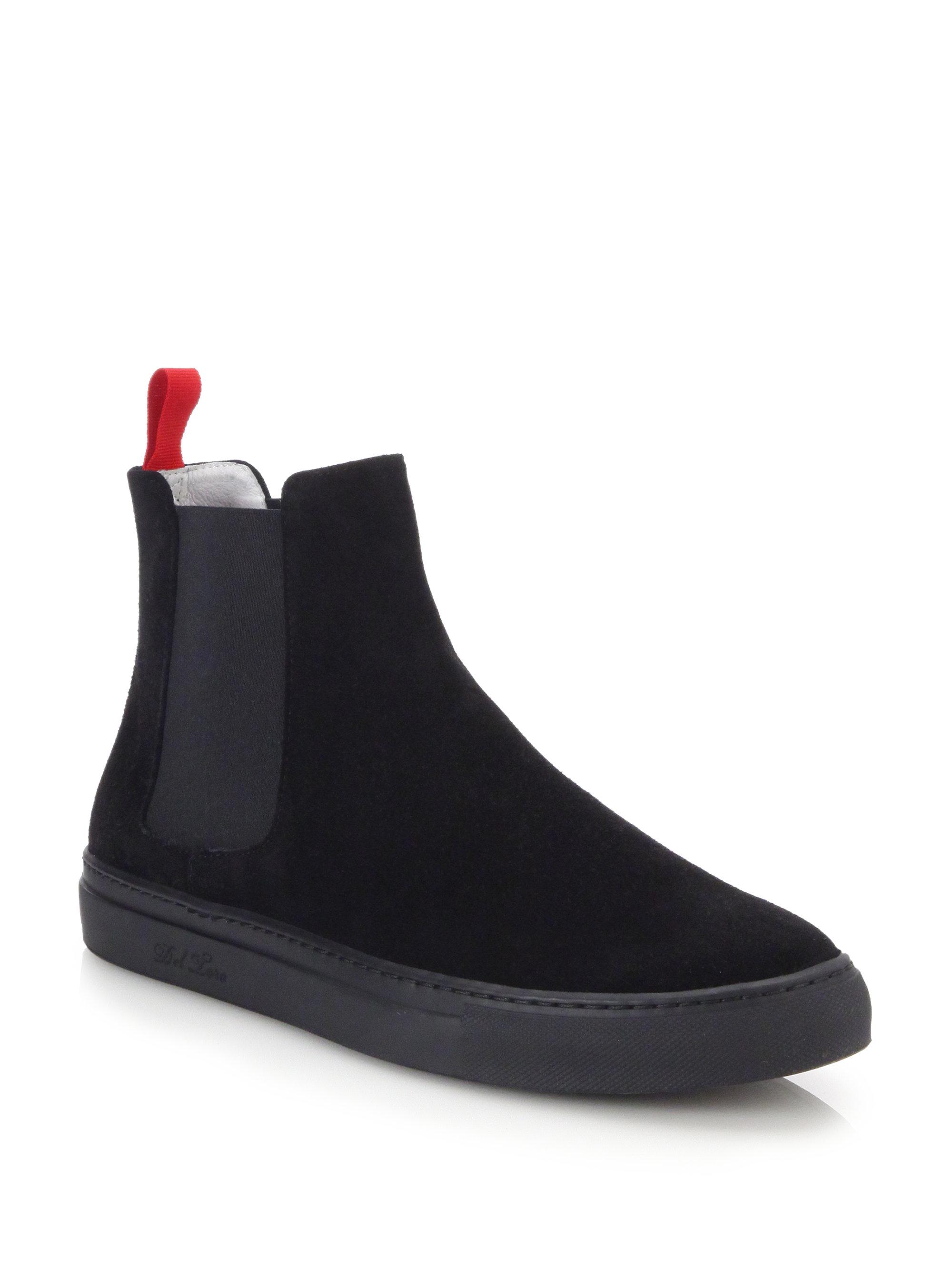 toro suede chelsea boot sneakers in black for lyst