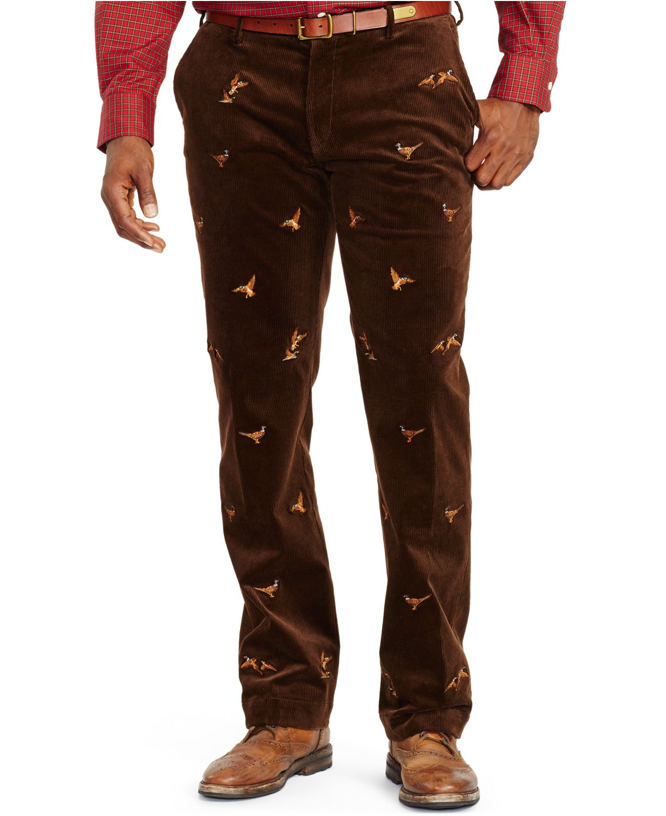 Polo ralph lauren Classic-fit Embroidered Stretch-corduroy Pants ...