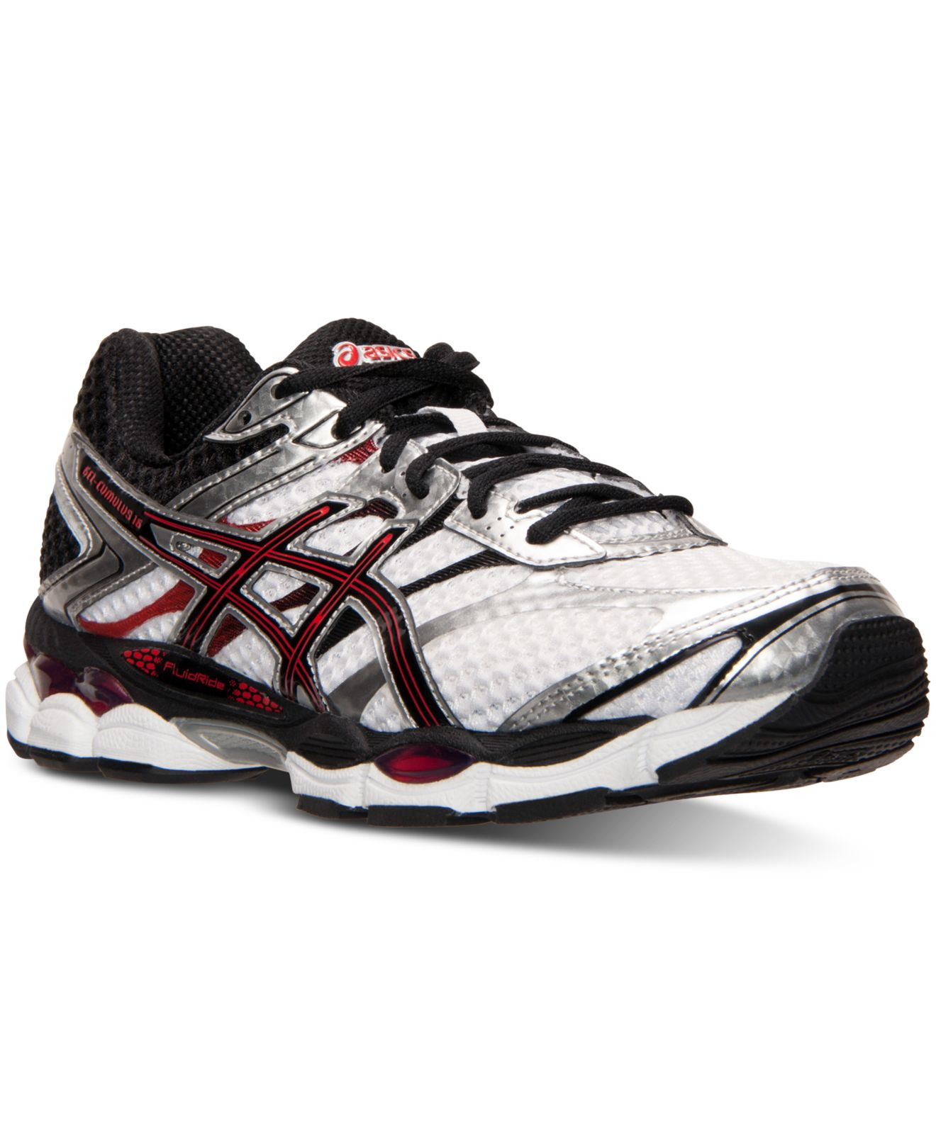 asics men 39 s gel cumulus 16 4e wide running sneakers from finish line in white for men lyst. Black Bedroom Furniture Sets. Home Design Ideas