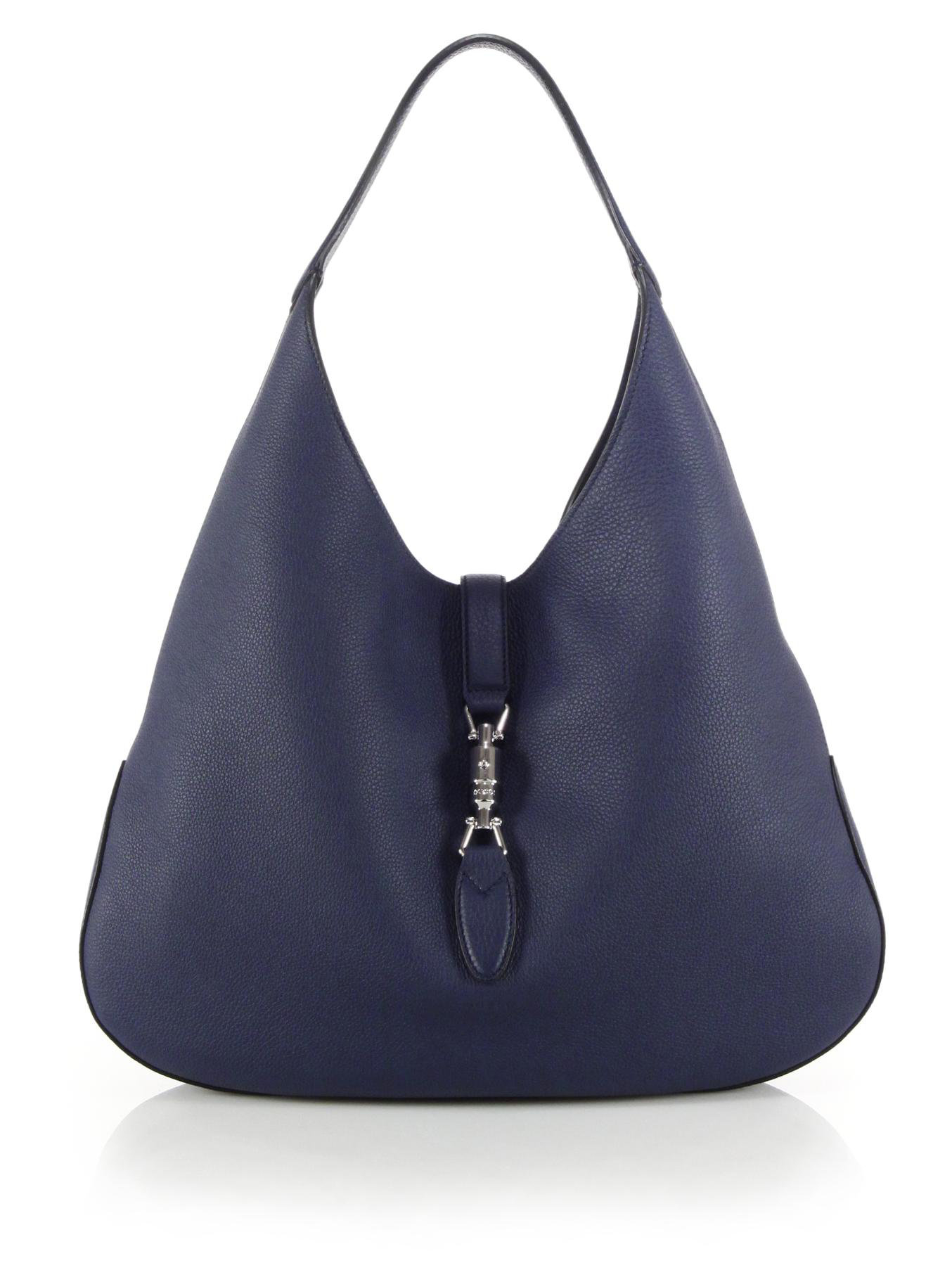 Gucci Jackie Soft Leather Hobo Bag in Blue | Lyst