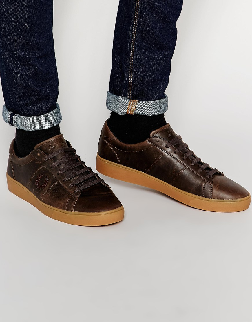 Spencer Waxed Leather Trainers