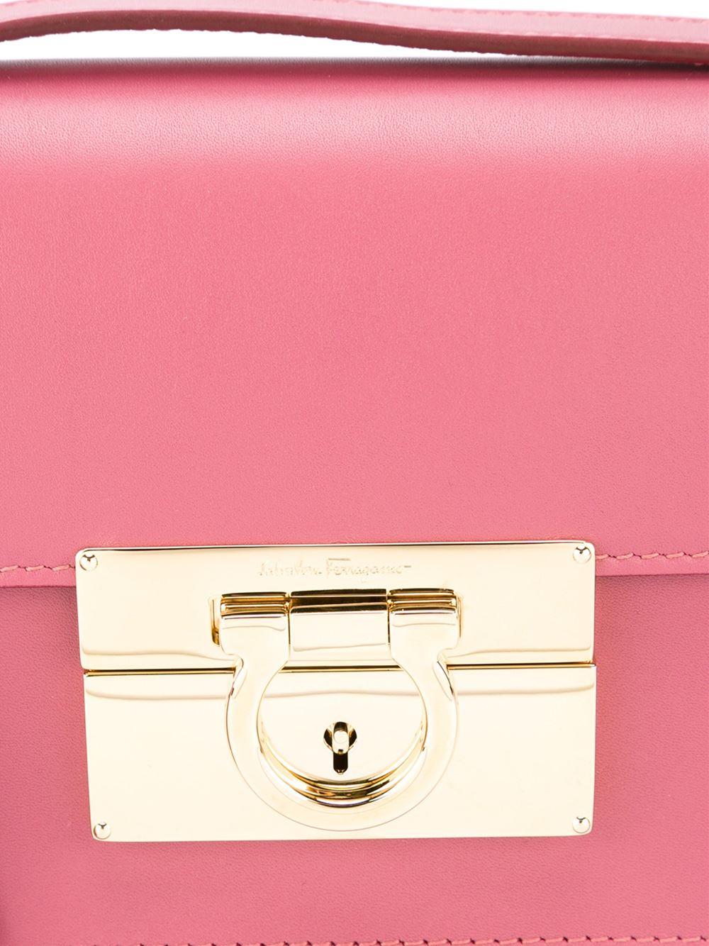 e048f459f543 Lyst - Ferragamo Aileen Shoulder Bag in Pink
