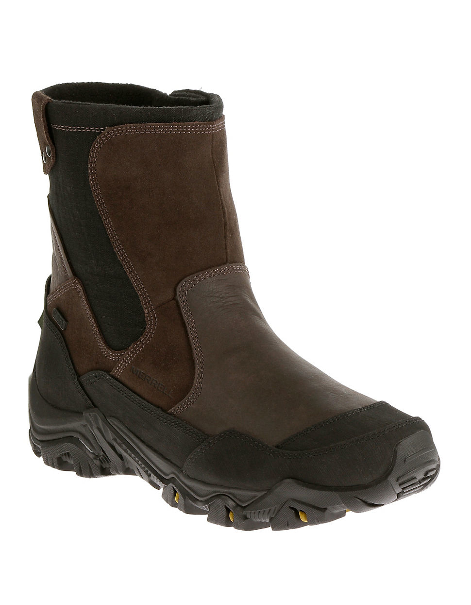 merrell polarand rove waterproof boots in brown for lyst