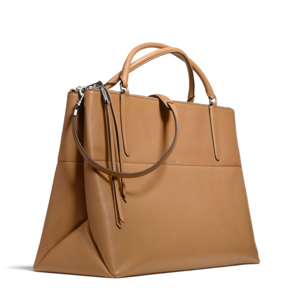 ... Coach The Xl Borough Bag in Retro Glove Tan Leather in Brown ... 0513c9e3cc181