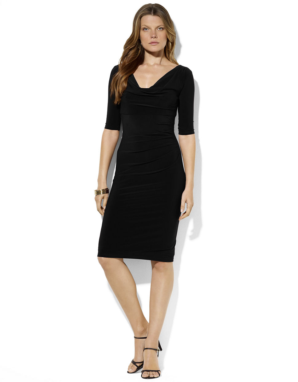 Awesome Womenu0026#39;s Knitted Dresses - Polo Ralph Lauren Maxi Dress Black Design Innovativo BNYVEEM