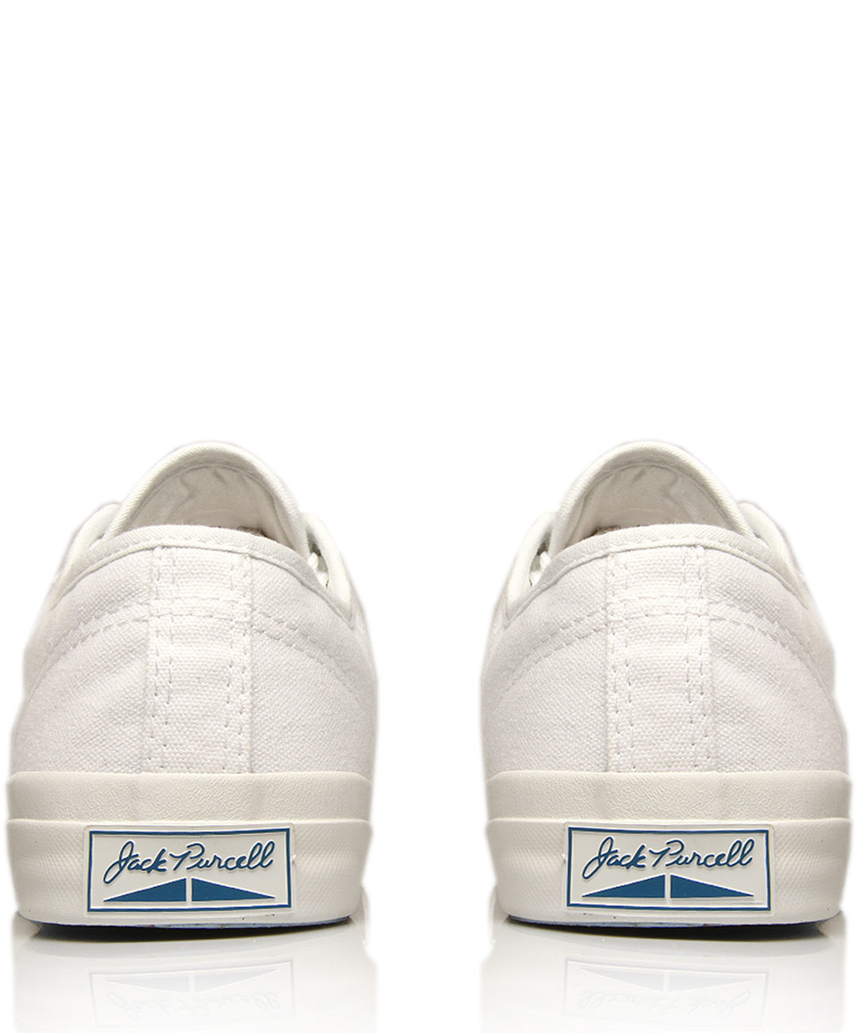 5e3aa7bf47f5 Lyst - Converse Cream Jack Purcell Leather Trainers in Natural for Men