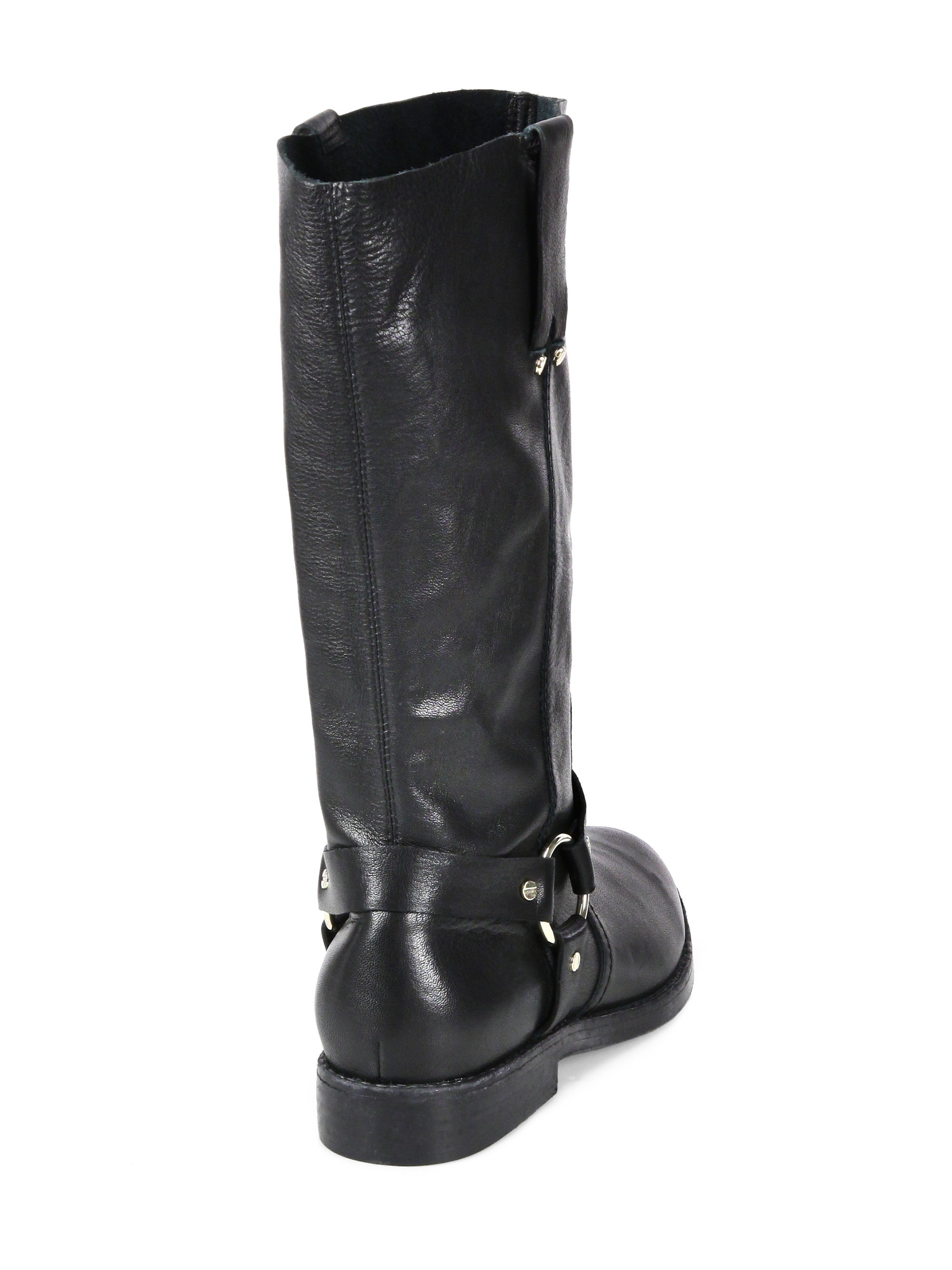 convenience goods another chance pre order Joie Black Babson Leather Kneehigh Moto Boots