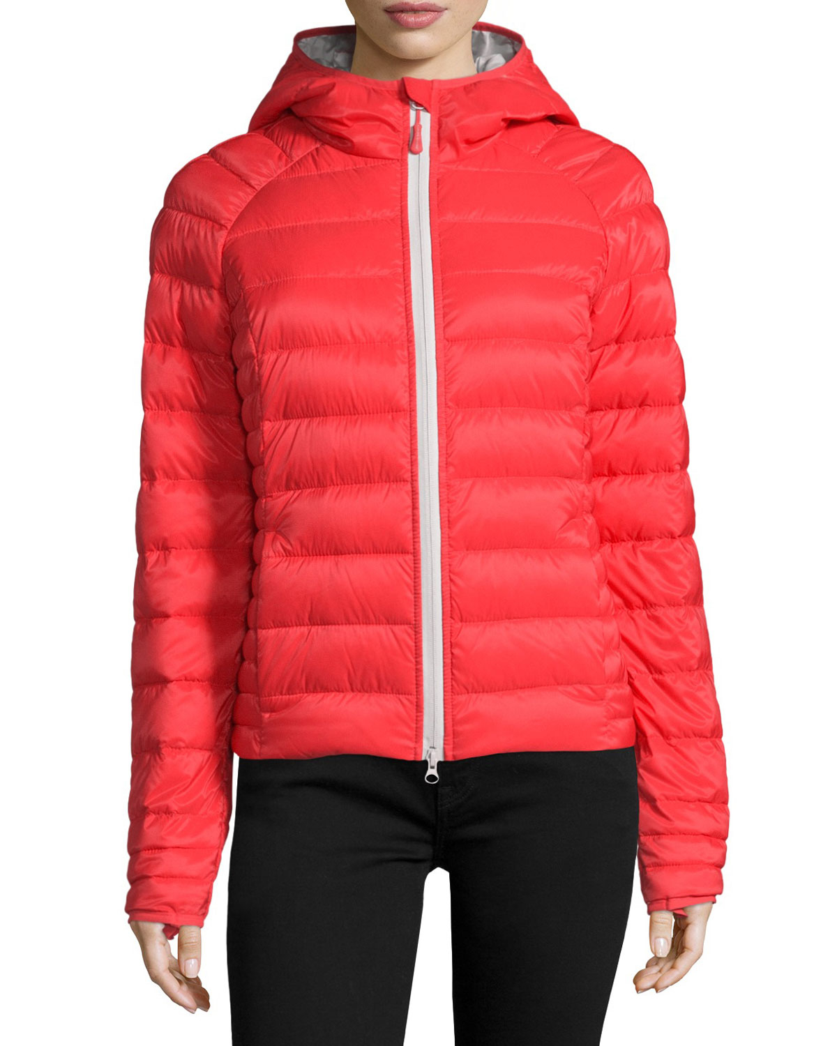 Canada Goose toronto replica official - Canada goose Brookvale Quilted Hoodie Puffer Jacket in Red (TORCH ...