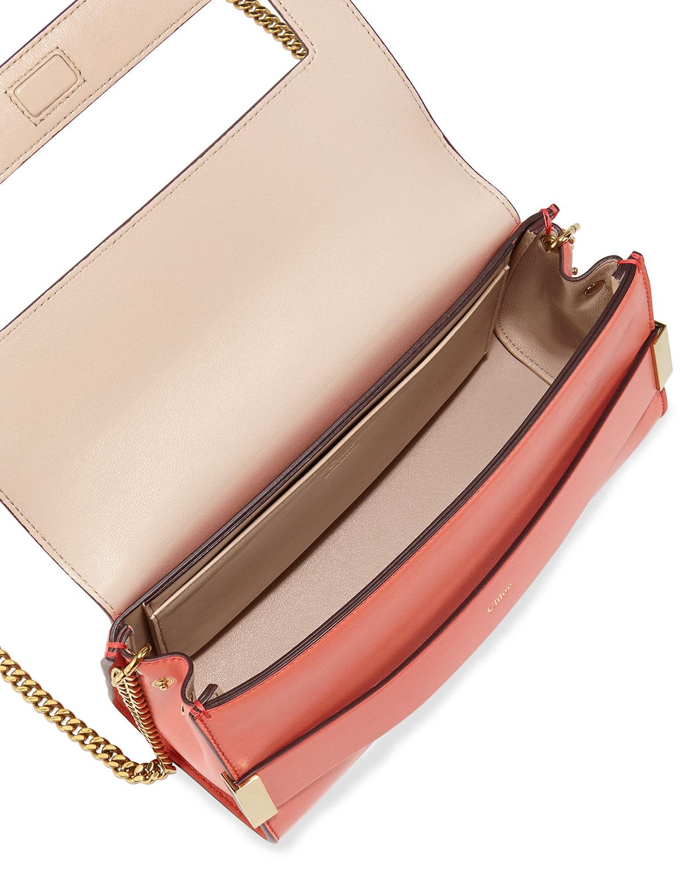 Chlo¨¦ Elle Clutch Bag With Shoulder Strap in Pink (CORAL) | Lyst
