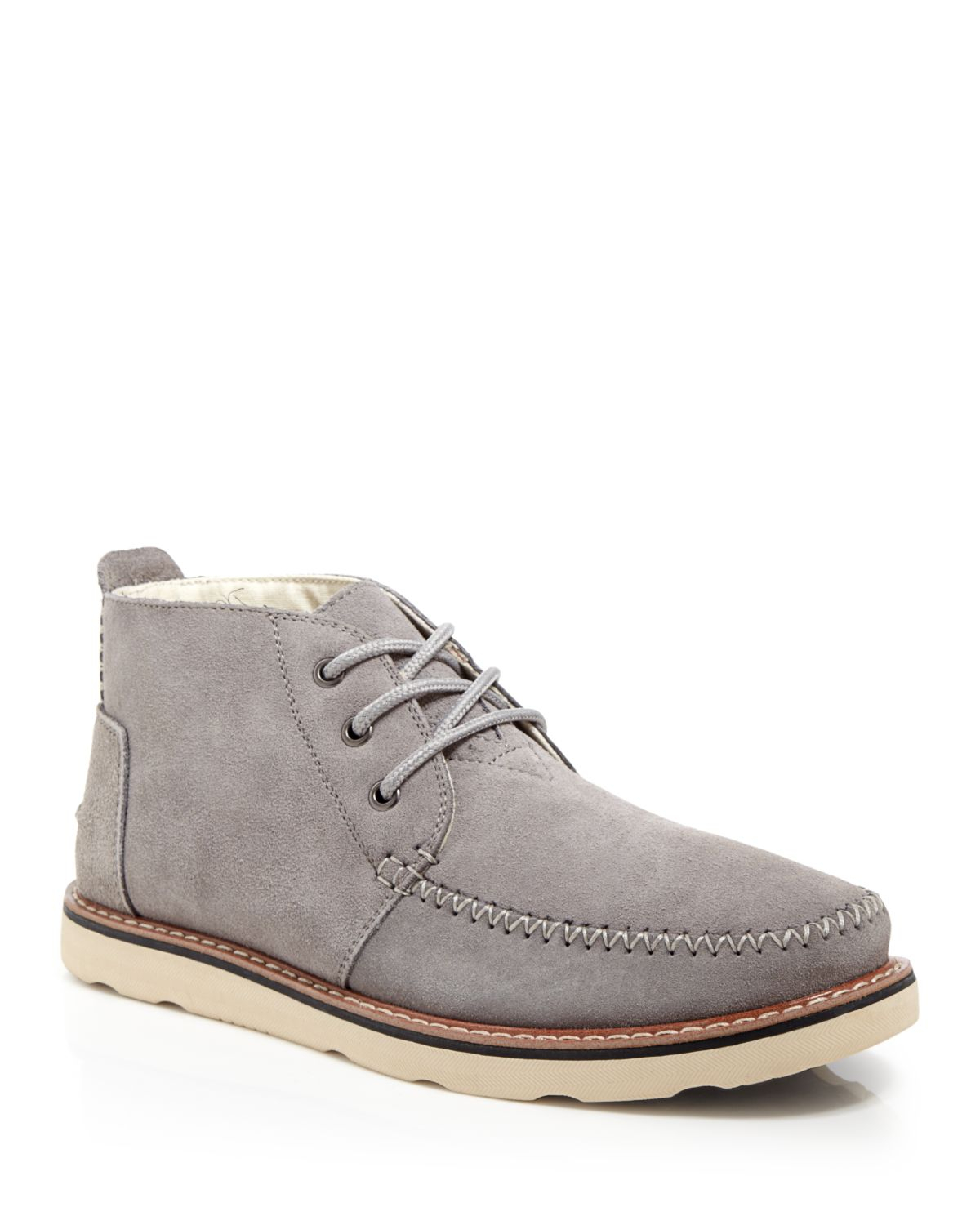 9a047cf7acb Toms Suede Chukka Boots in Gray for Men
