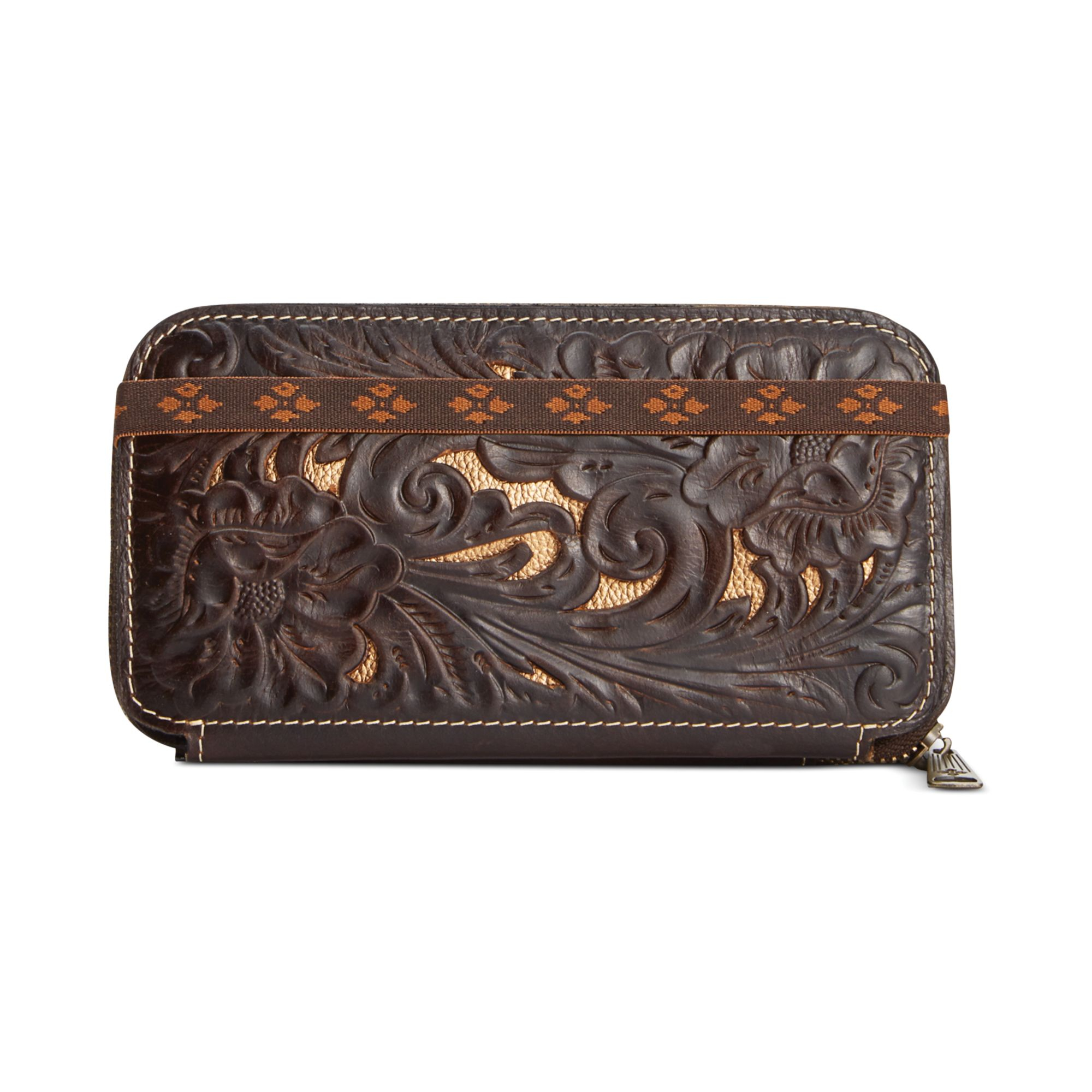 Patricia nash Tooled Oria Wallet in Brown   Lyst