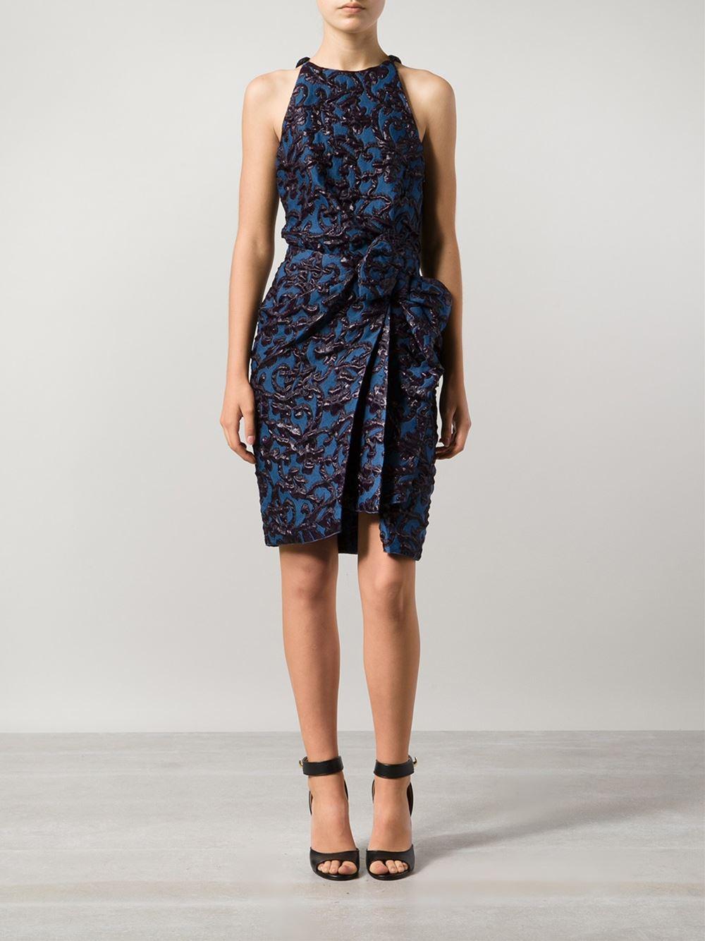 Lanvin Robe Dress In Blue Lyst