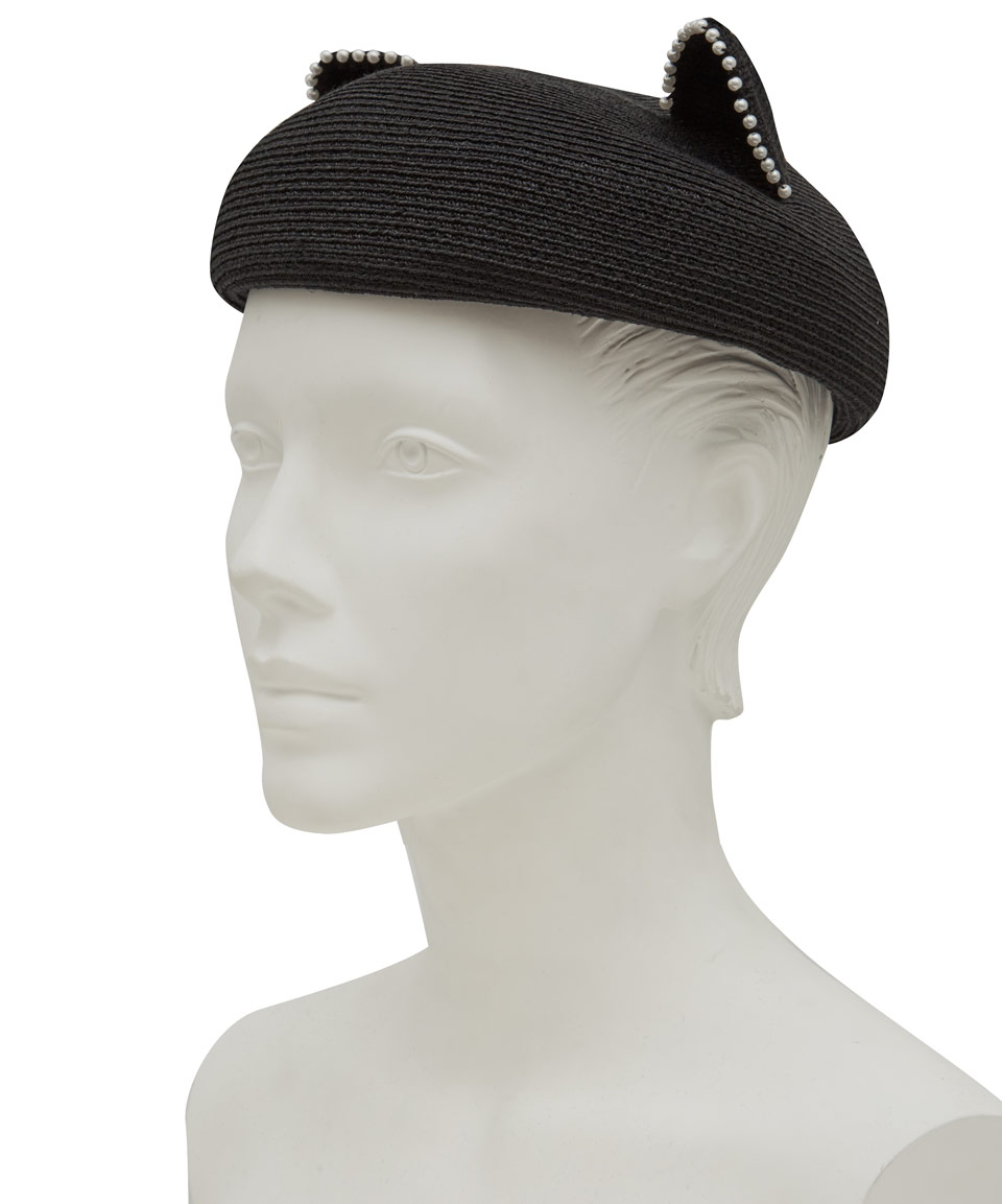 17e93024a0d Lyst - Eugenia Kim Black Caterina Cat Ear Pearl Hat in Black