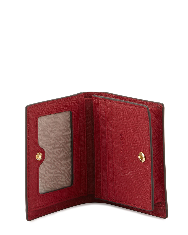 849f4fc76bac MICHAEL Michael Kors Jet Set Travel Flap Card Holder in Red - Lyst