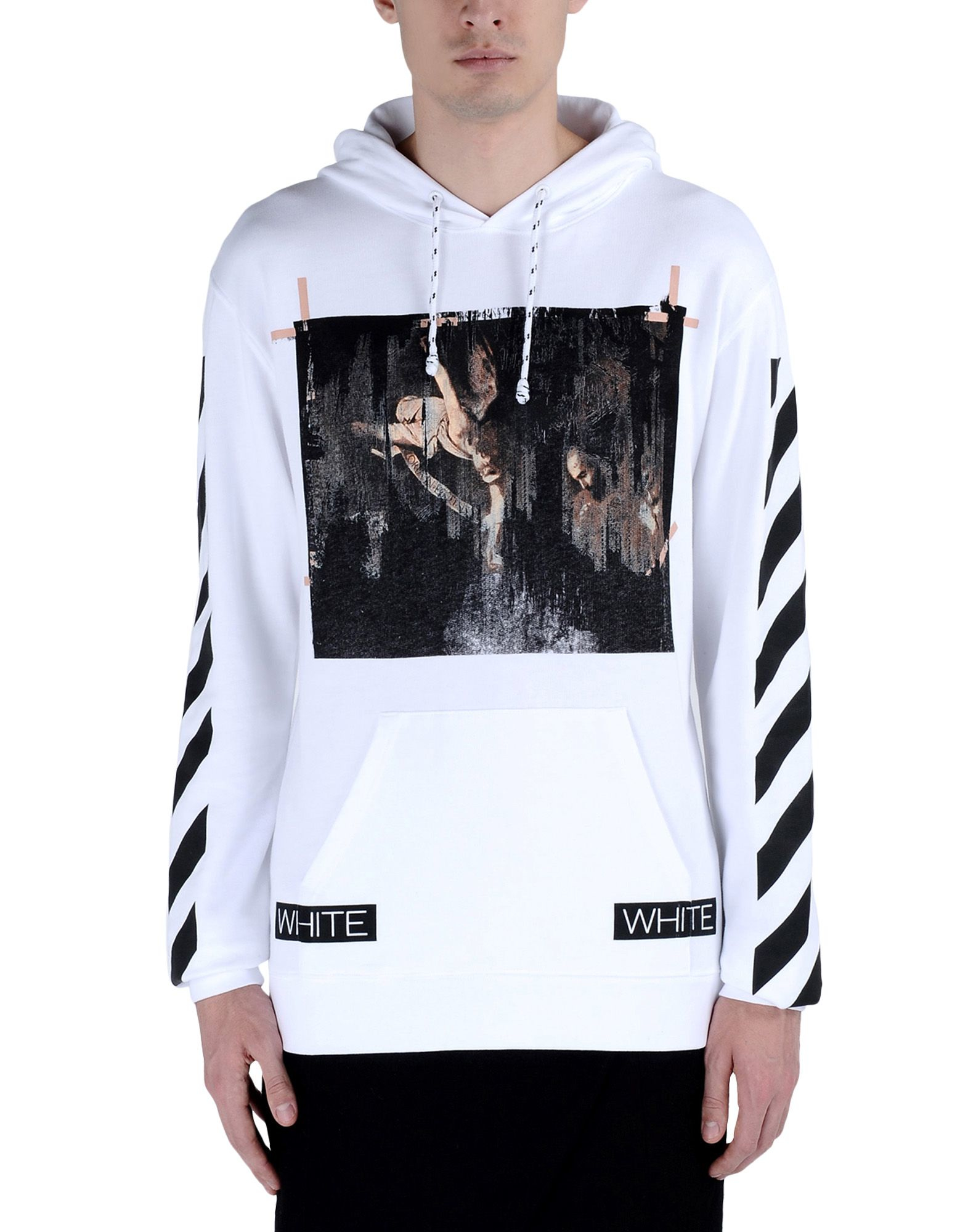 off white c o virgil abloh sweatshirt in white for men lyst. Black Bedroom Furniture Sets. Home Design Ideas