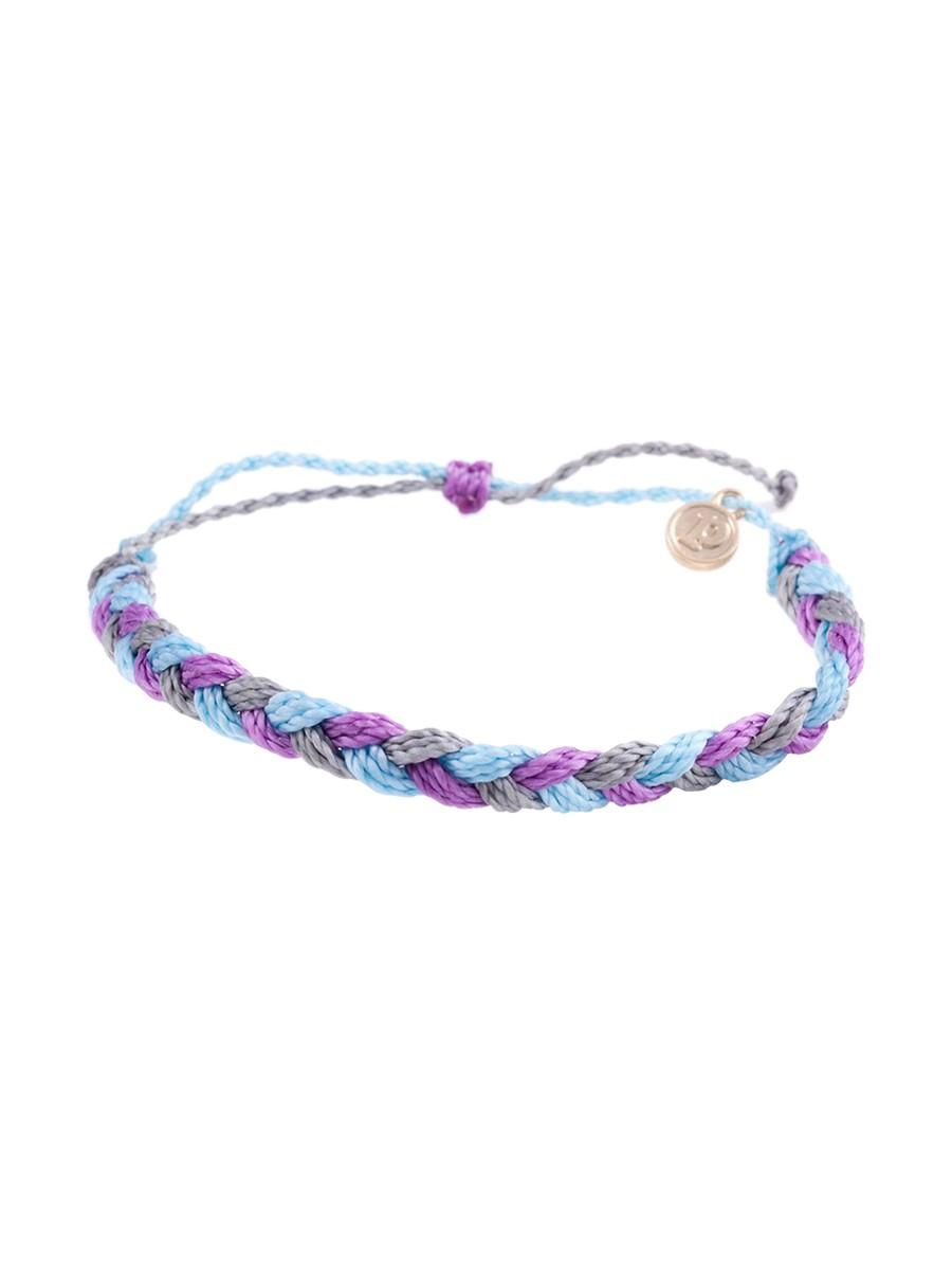 pura vida braided bracelet in blue berry lyst