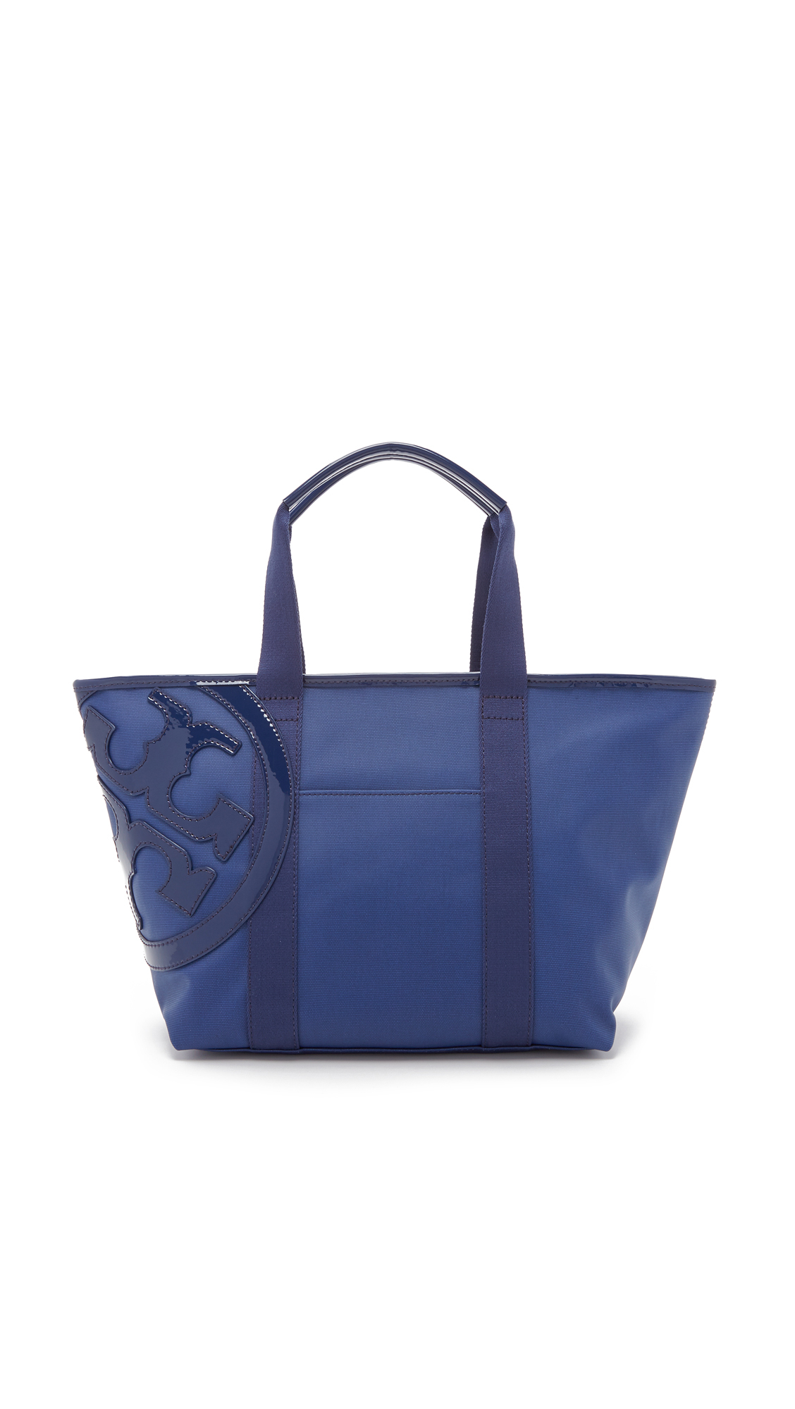 Tory burch Beach Canvas Tote in Blue | Lyst