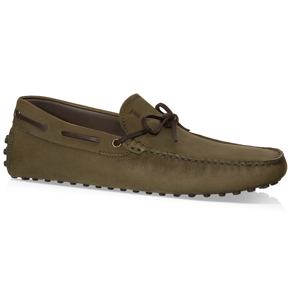 Tod's Gommino Driving Shoes In Nubuck in Green for Men (GREEN/BROWN) - Save 30% | Lyst