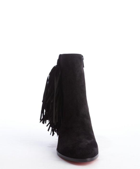 louis vuitton mens shoes - Christian louboutin Black Suede Tassel Detail \u0026#39;Jimmynetta 70 ...