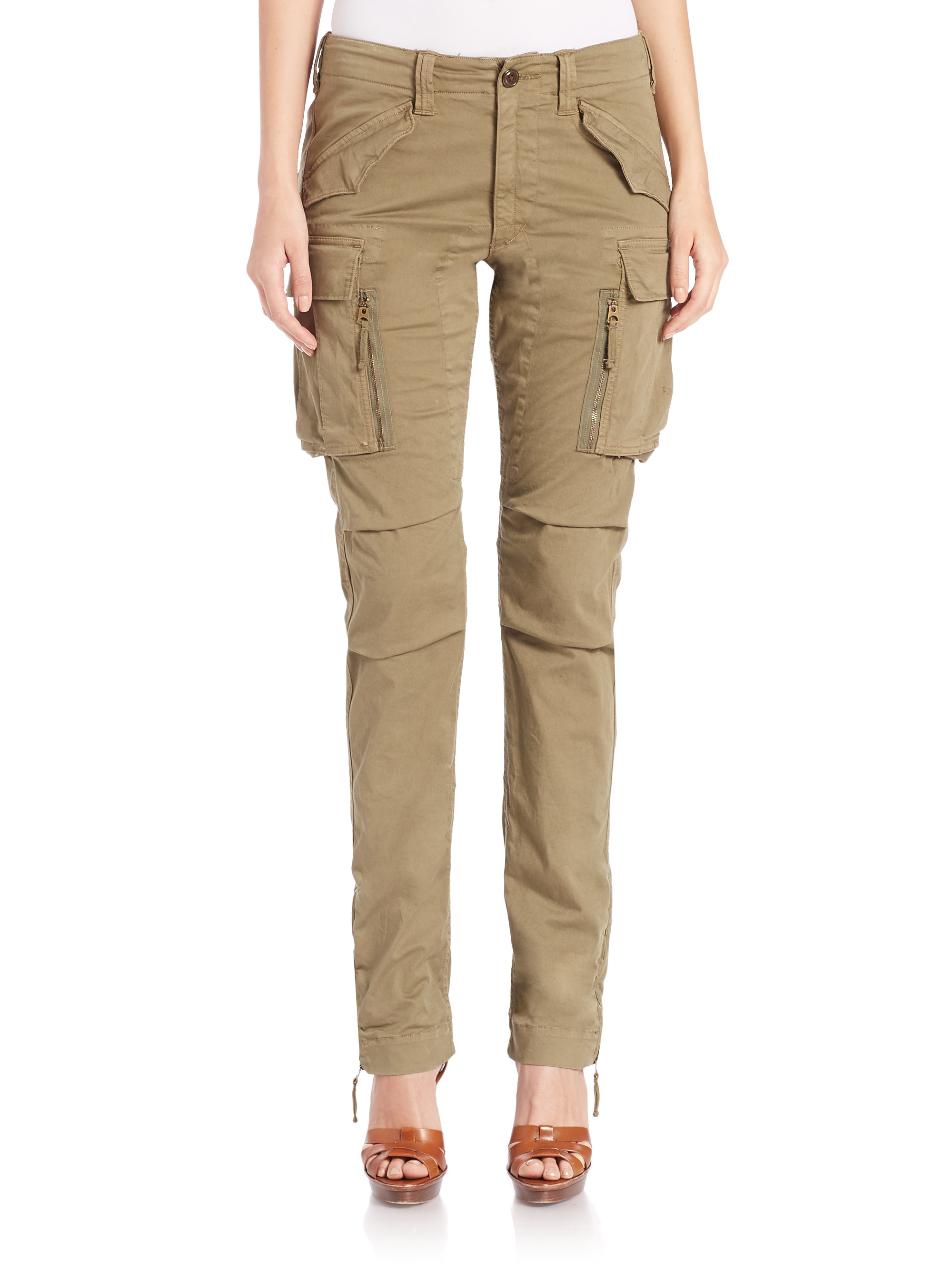 Cool Lauren By Ralph Lauren Anjaria Cargo Pants In Khaki Barrier Khaki